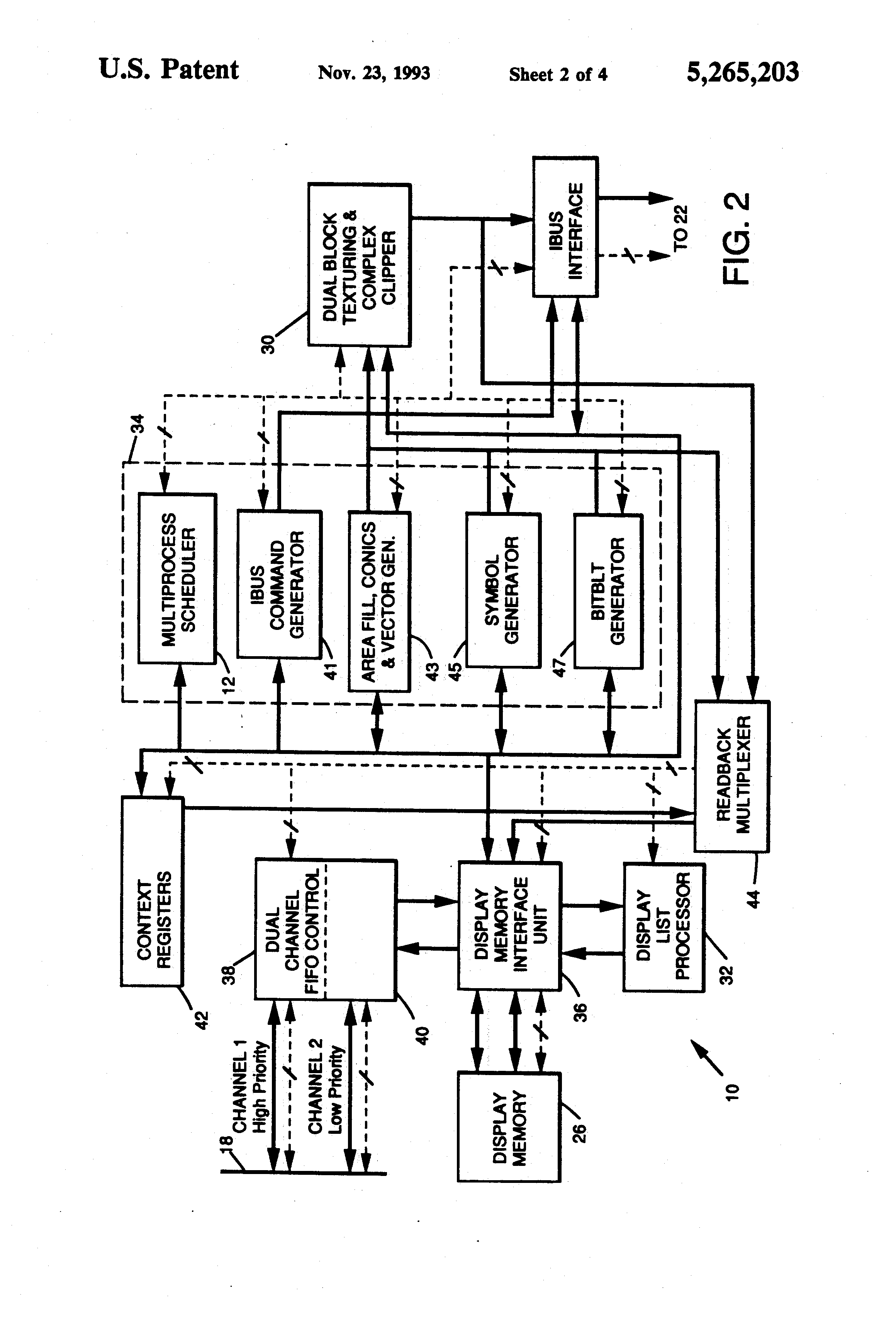 Patent Us5265203 Hardware Multiprocess Scheduler In A Graphics Radar Tracking Aircraft Vector Clip Wiring Circuit Diagram Drawing