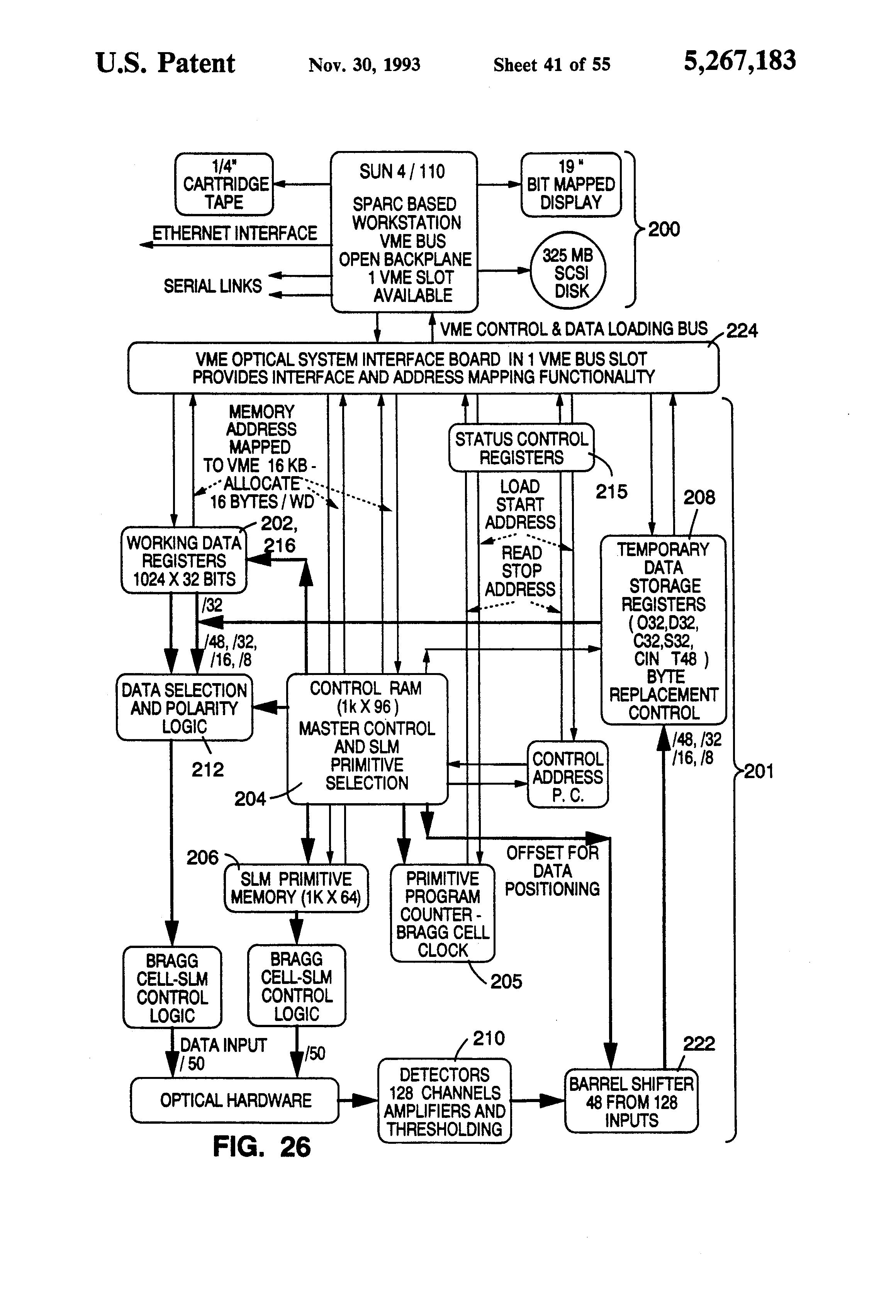 Patent Us5267183 General Purpose Optical Computer Google Patenten Counter Circuit 4 Bit Carry Look Ahead Adder Lcd Display Drawing