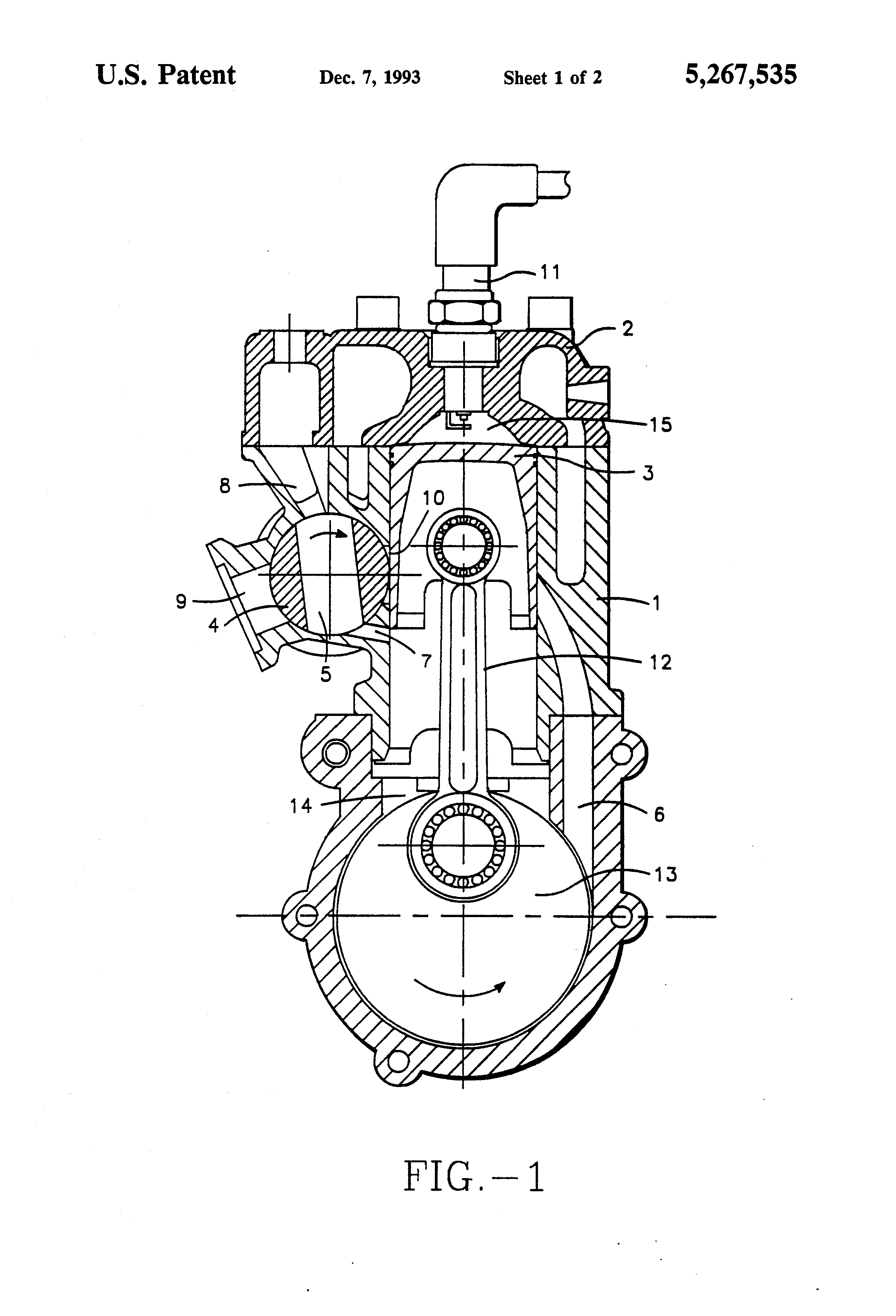 Patent US5267535 Rotary exhaust valve for two stroke
