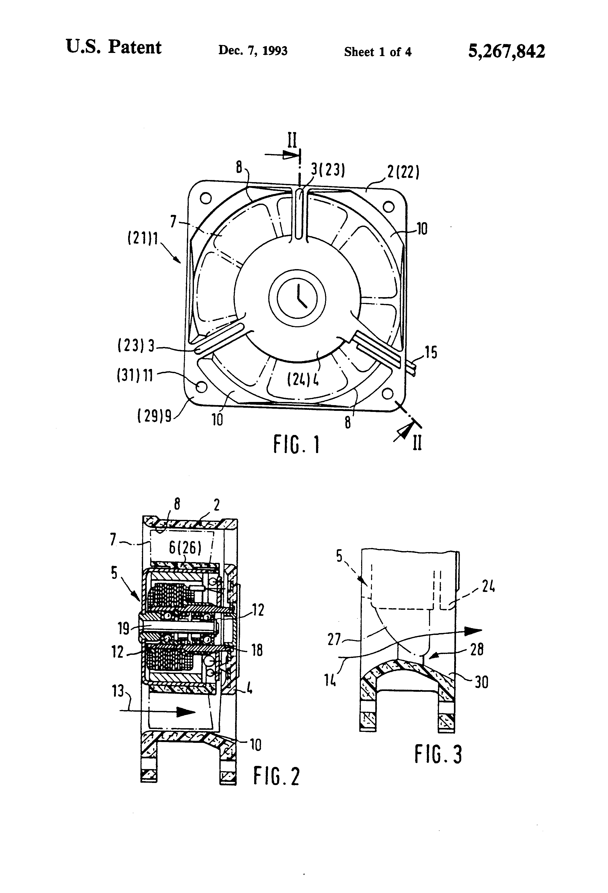 Direct Current Fan : Patent us miniaturized direct current fan