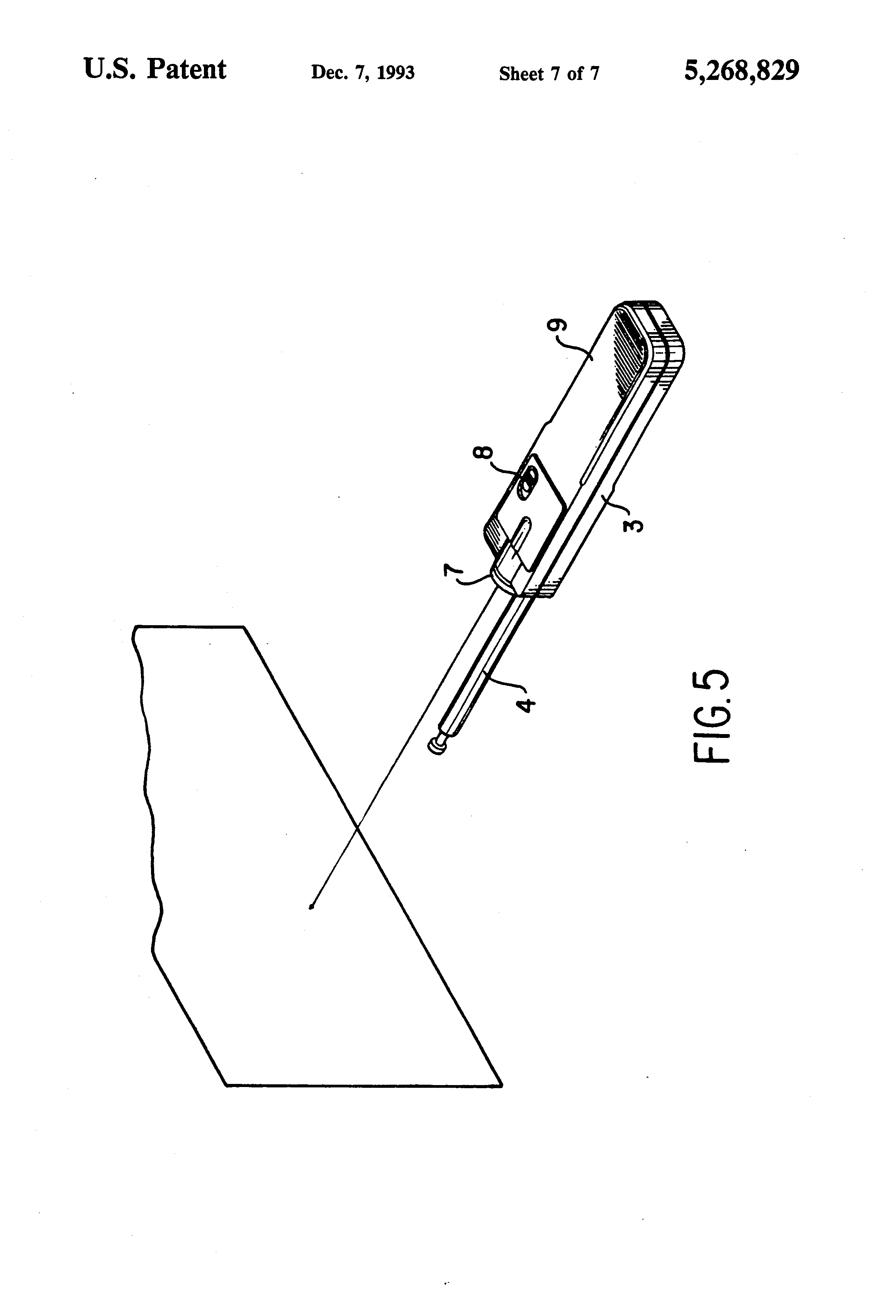 patent us5268829 - structure of laser pointer