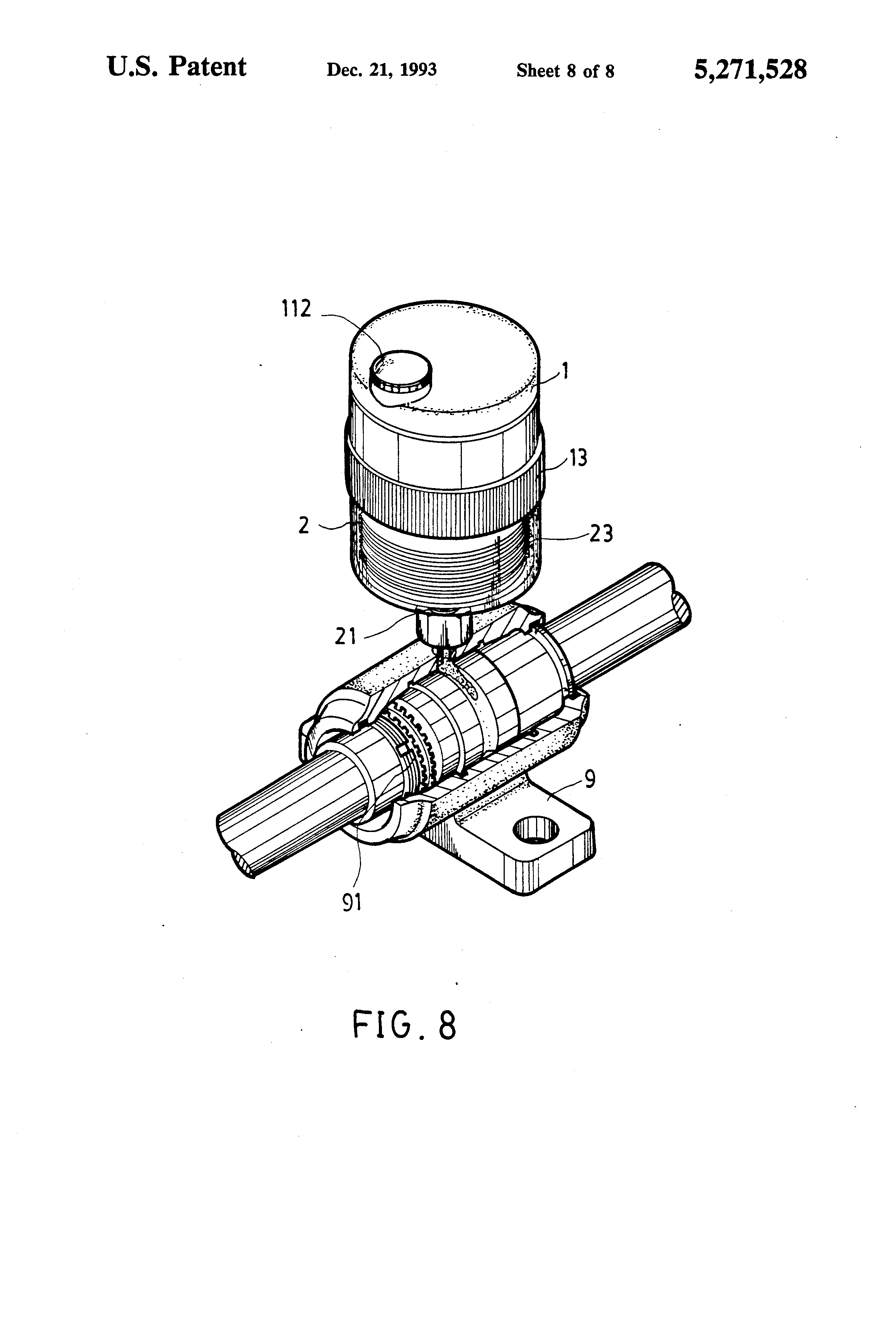 patent us5271528 - automatic grease dispenser