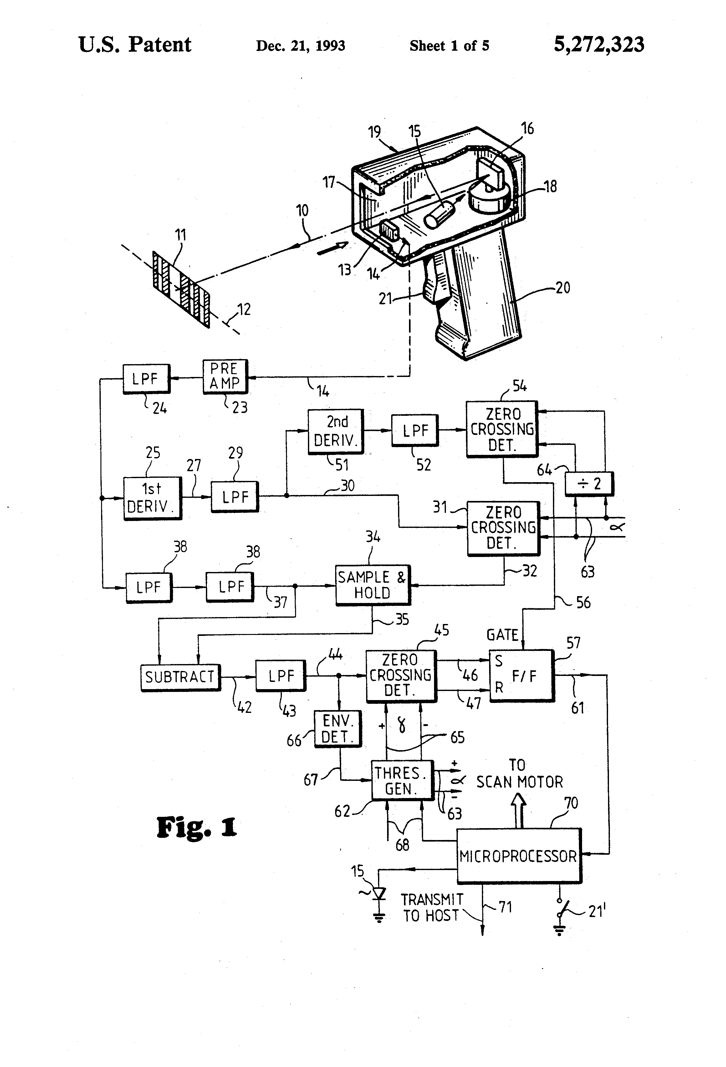 patent us5272323 - digitizer for barcode scanner