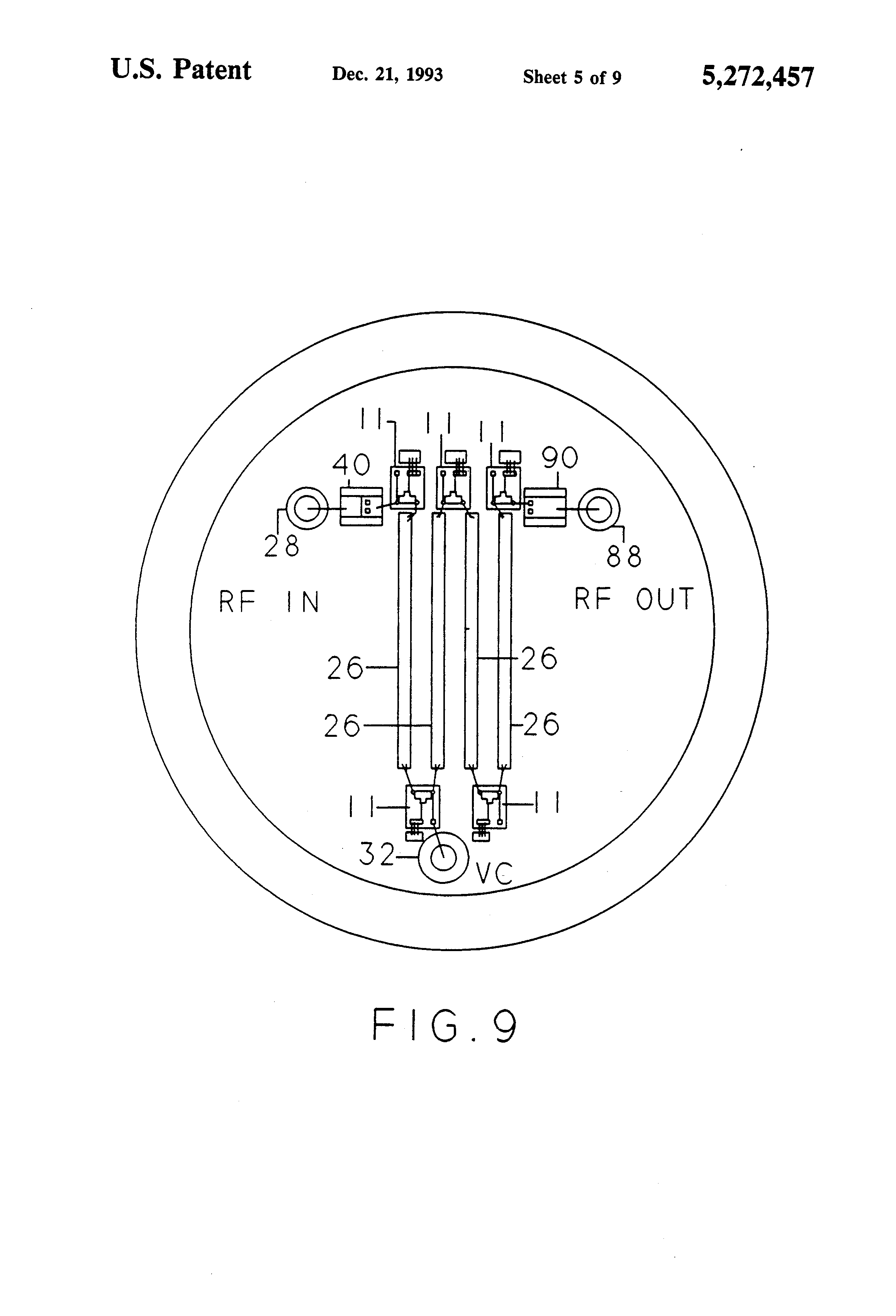 Patent Us5272457 High Isolation Integrated Switch Circuit Google Selecting If Bandpass Filters Via Series Shunt Pindiode Switching Can Drawing