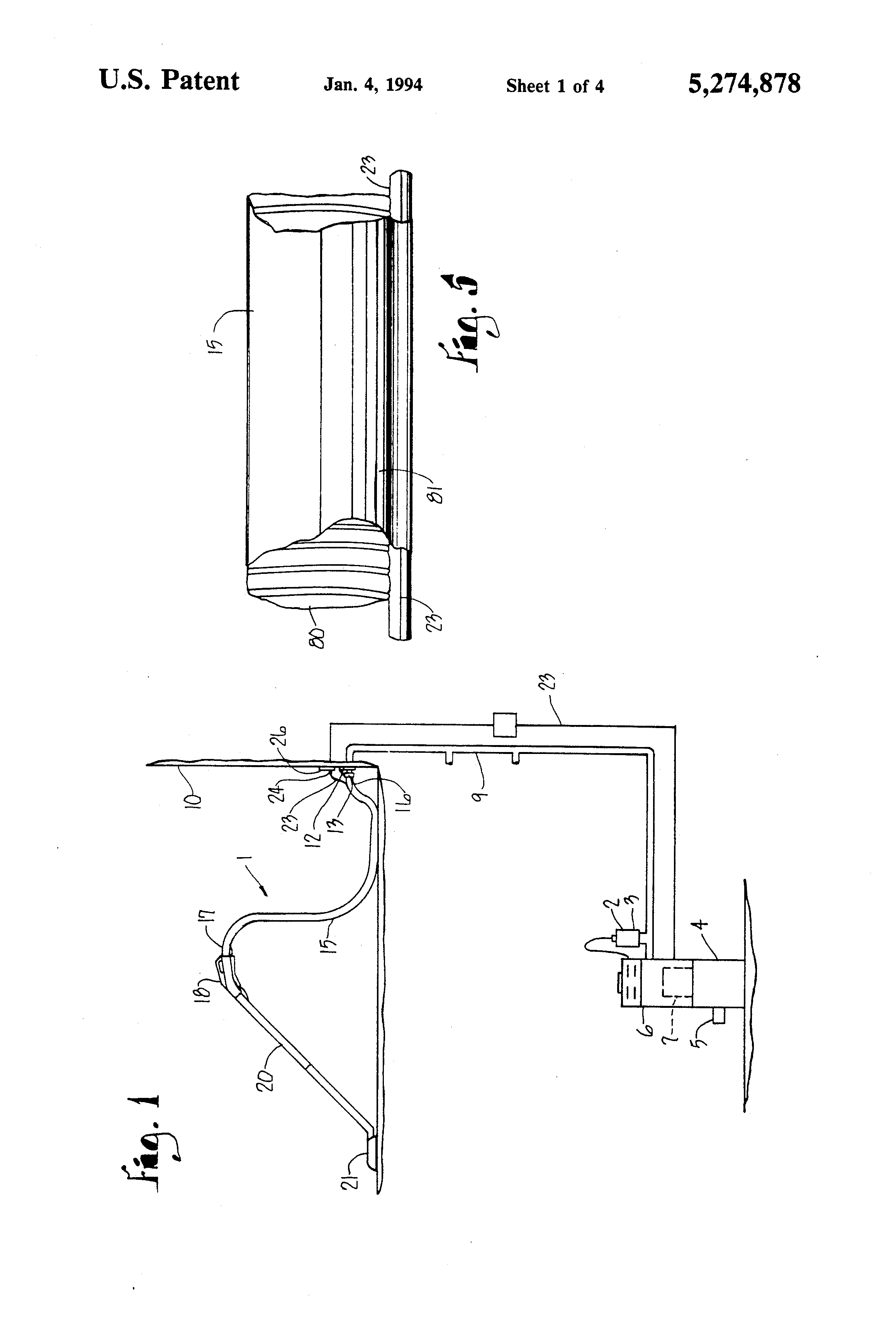 patent us5274878 remote control system for central vacuum patent drawing