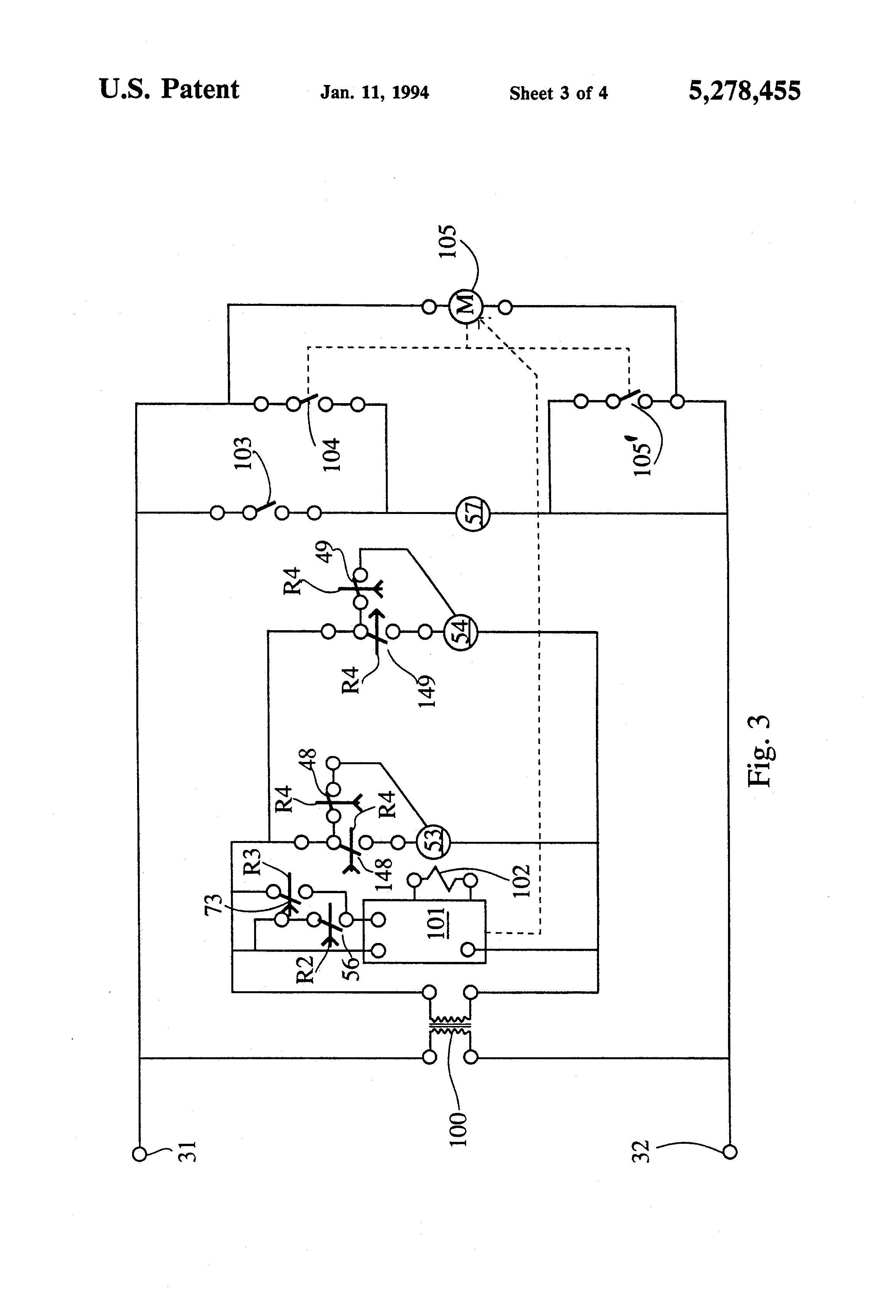 US5278455 3 patent us5278455 spa and pool pump and heater control google jandy spa side remote wiring diagram at aneh.co