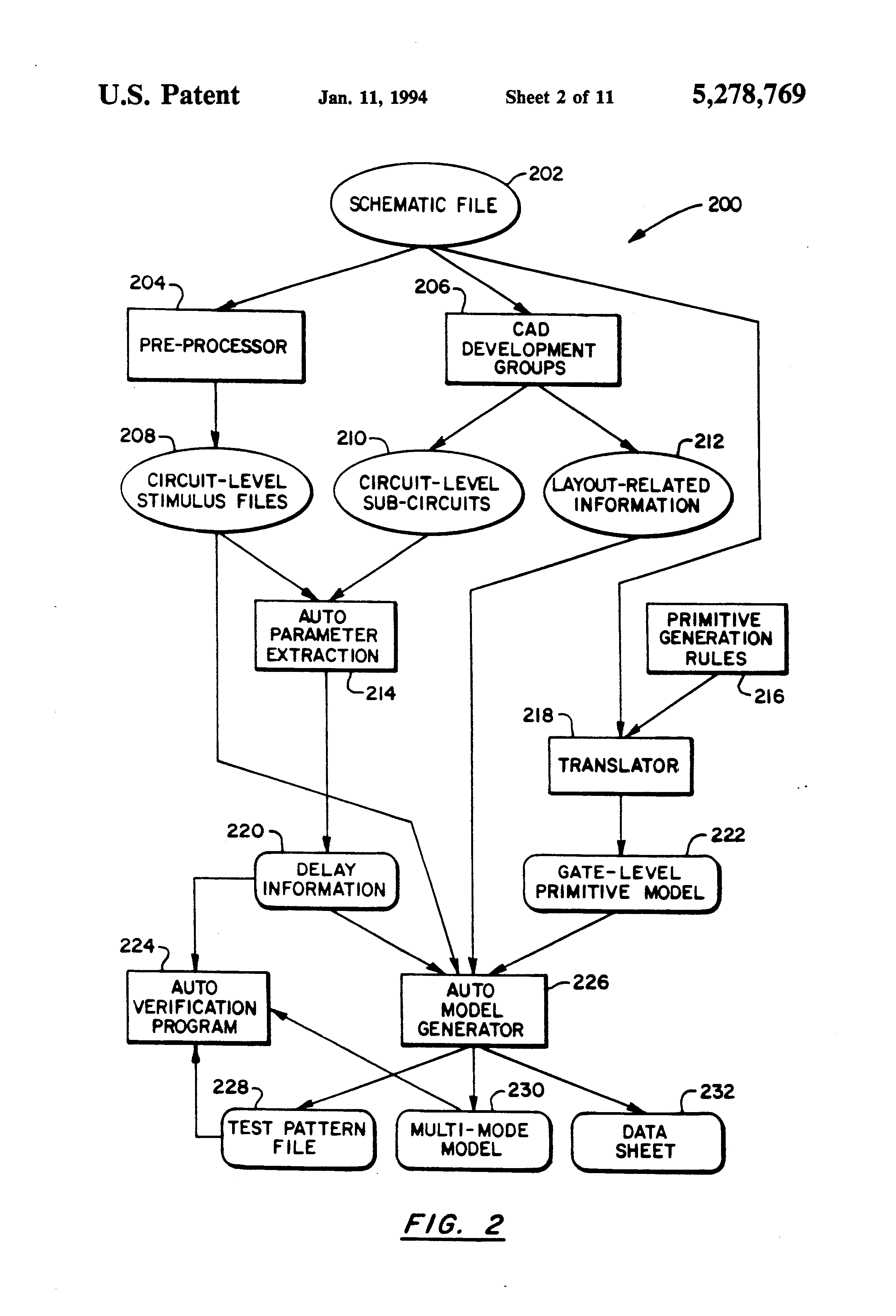 patent us5278769 - automatic logic model generation from schematic data base