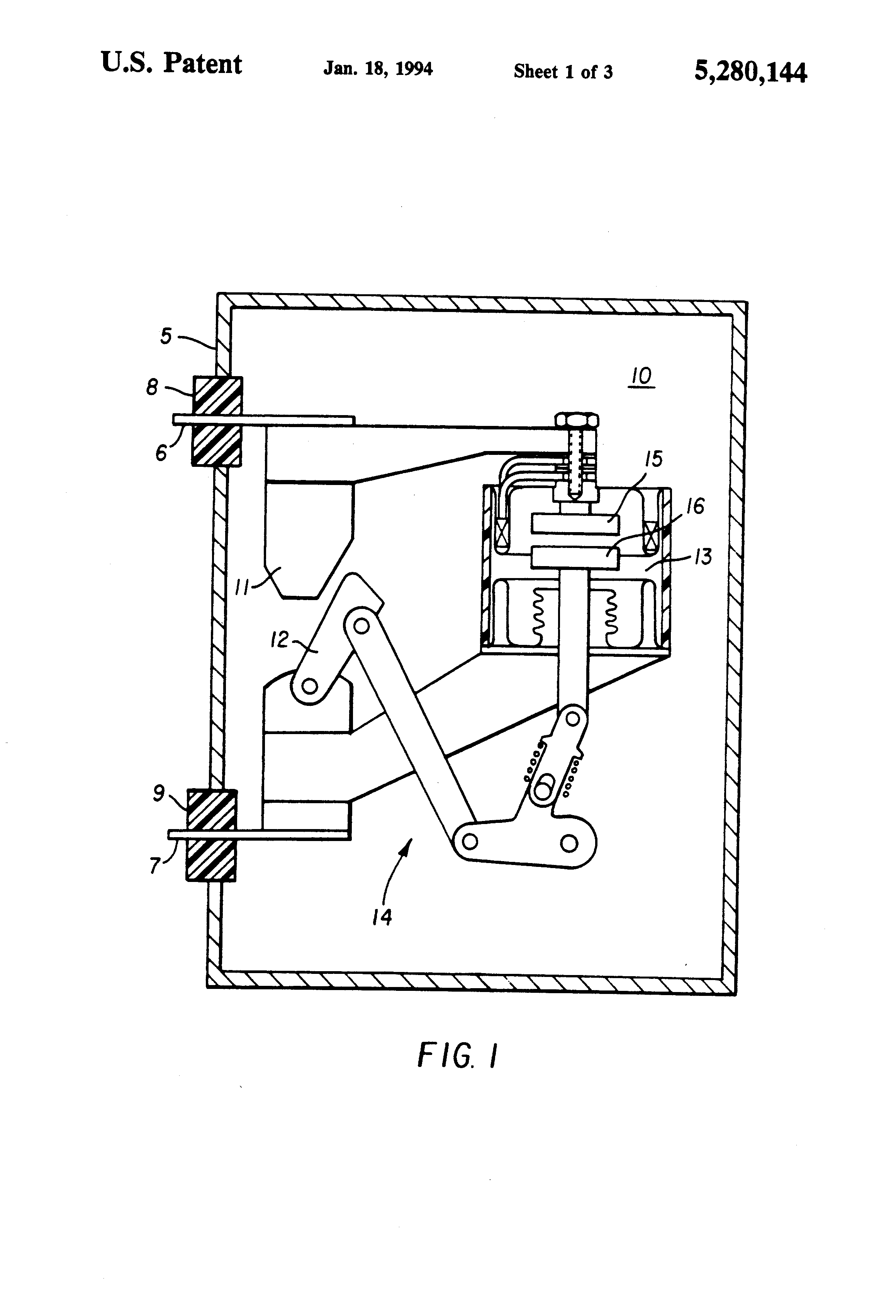 Patent Us5280144 Hybrid Circuit Breaker With Axial Blowout Coil Operator For A On Wiring Diagram Of Vacuum Drawing