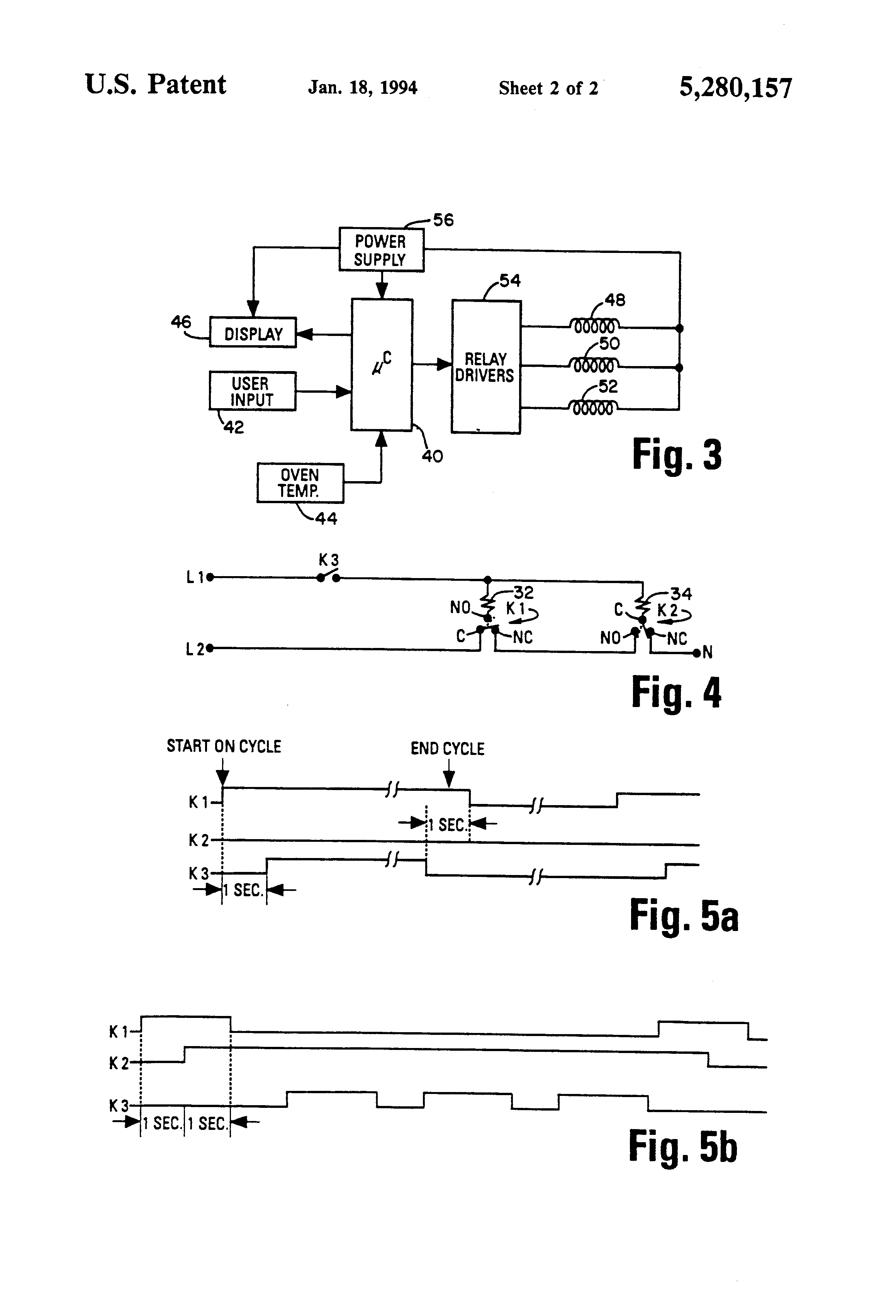 patent us5280157 power switching arrangement for cooking oven patent drawing