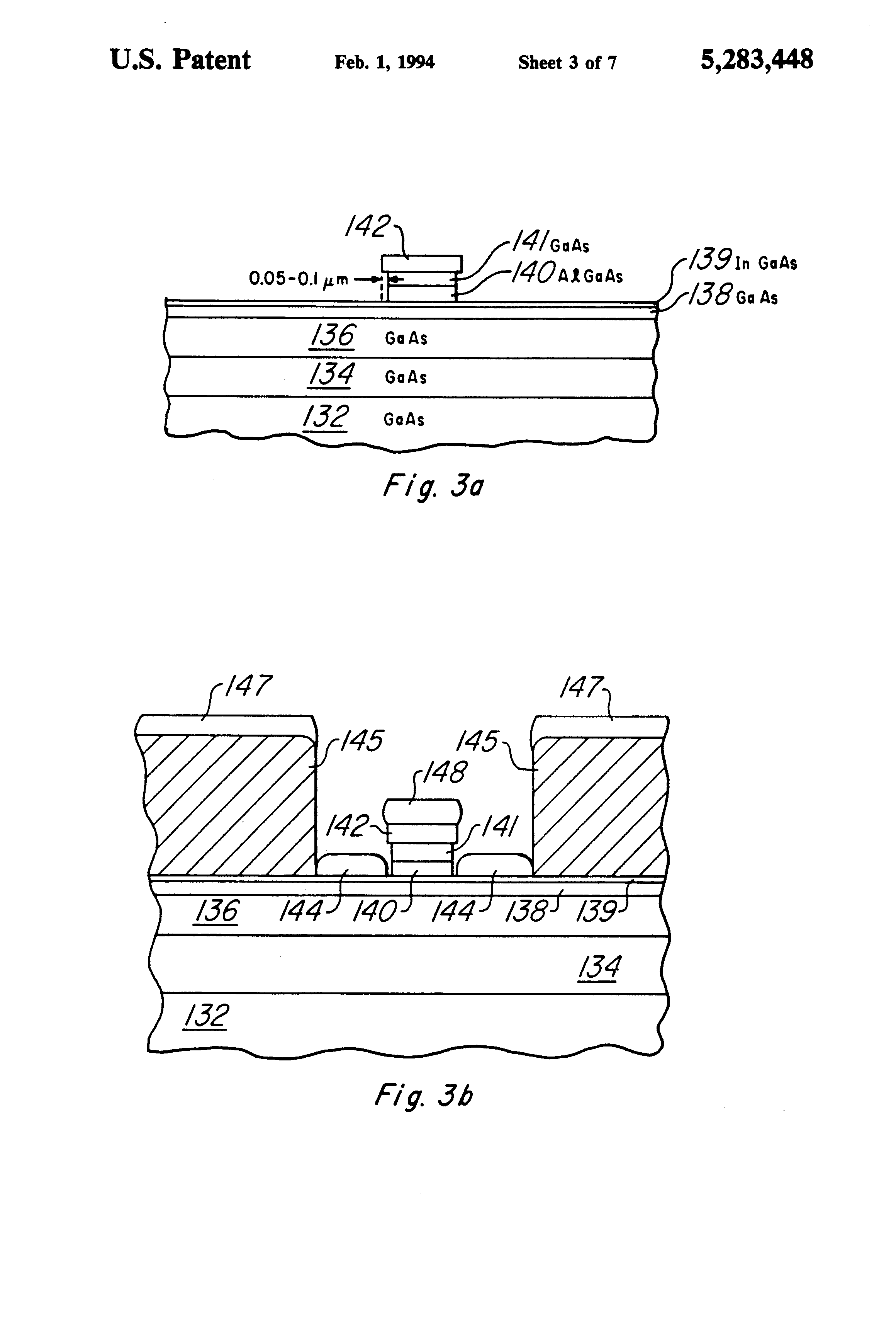 patent us5283448 - mesfet with indium gallium arsenide etch stop