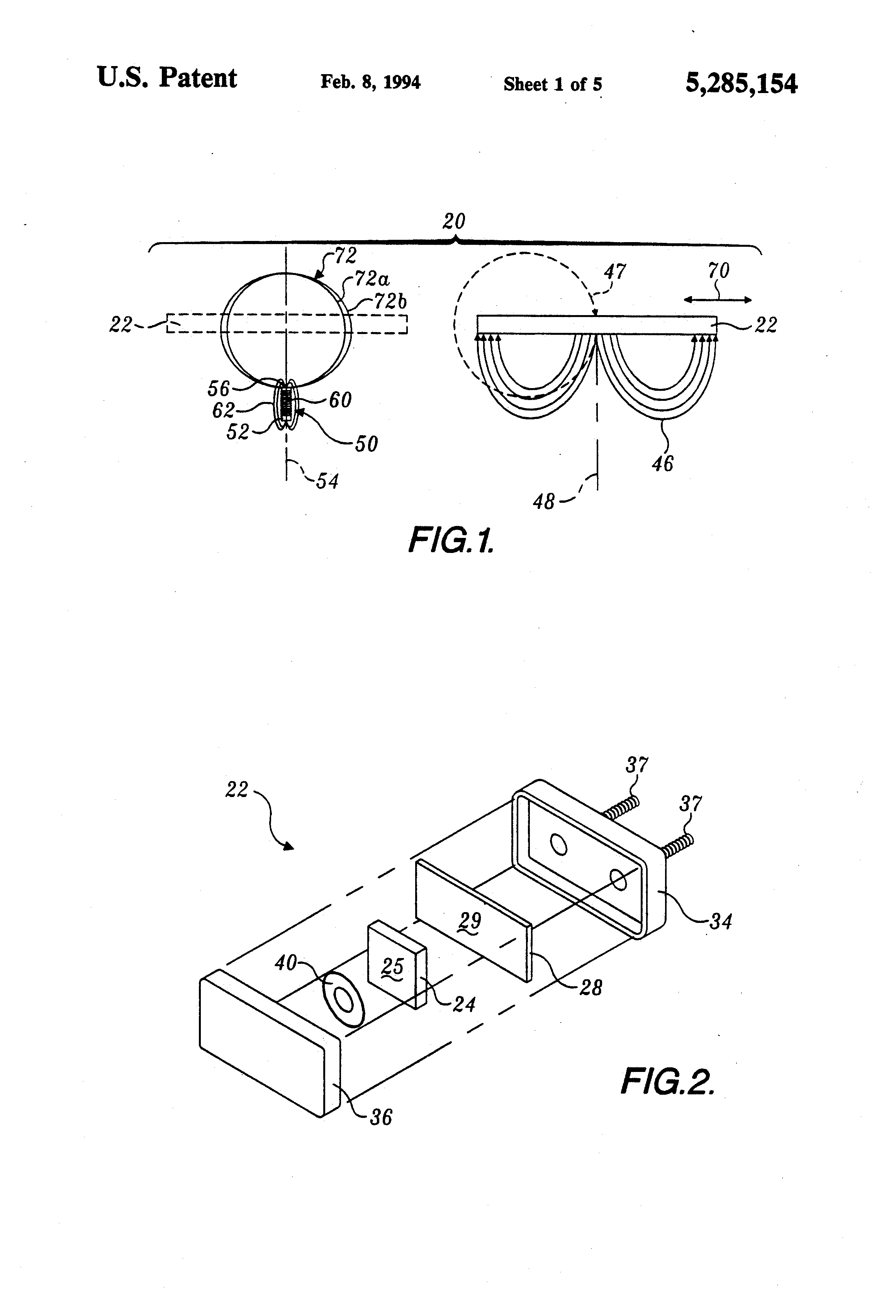 Patent Us5285154 Saturable Core Proximity Sensor Aligned Weak Signal Amplifier Circuit Diagram Composed Of Magnetosensitive Drawing