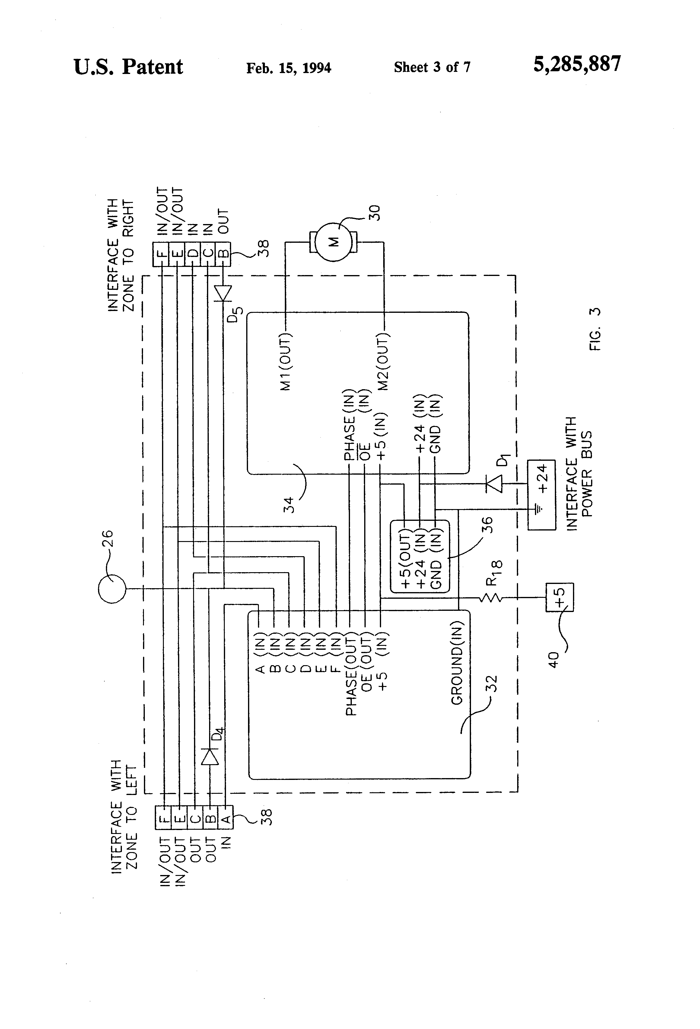 patent us5285887 accumulating conveyor and control system patent drawing