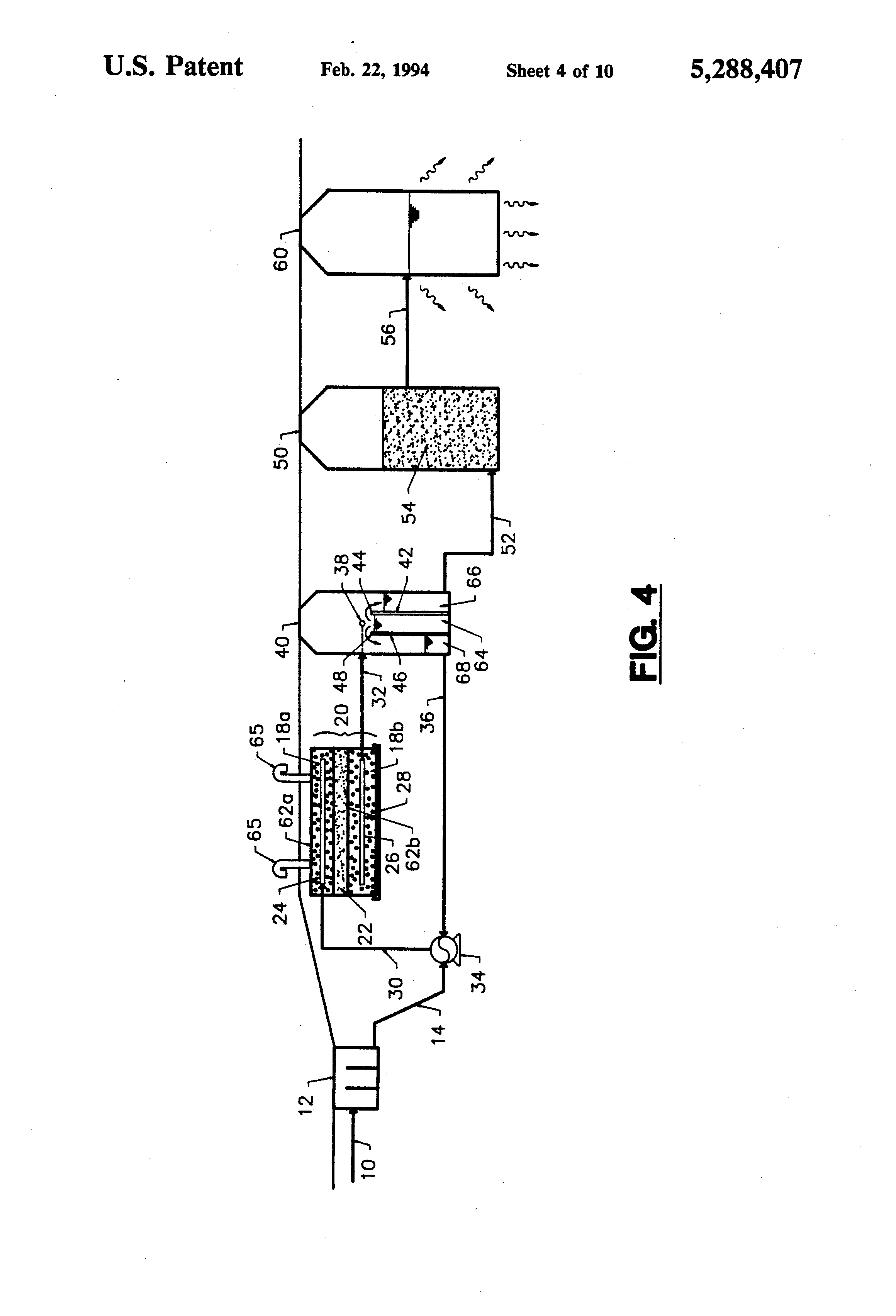 patent us5288407 - denitrification system