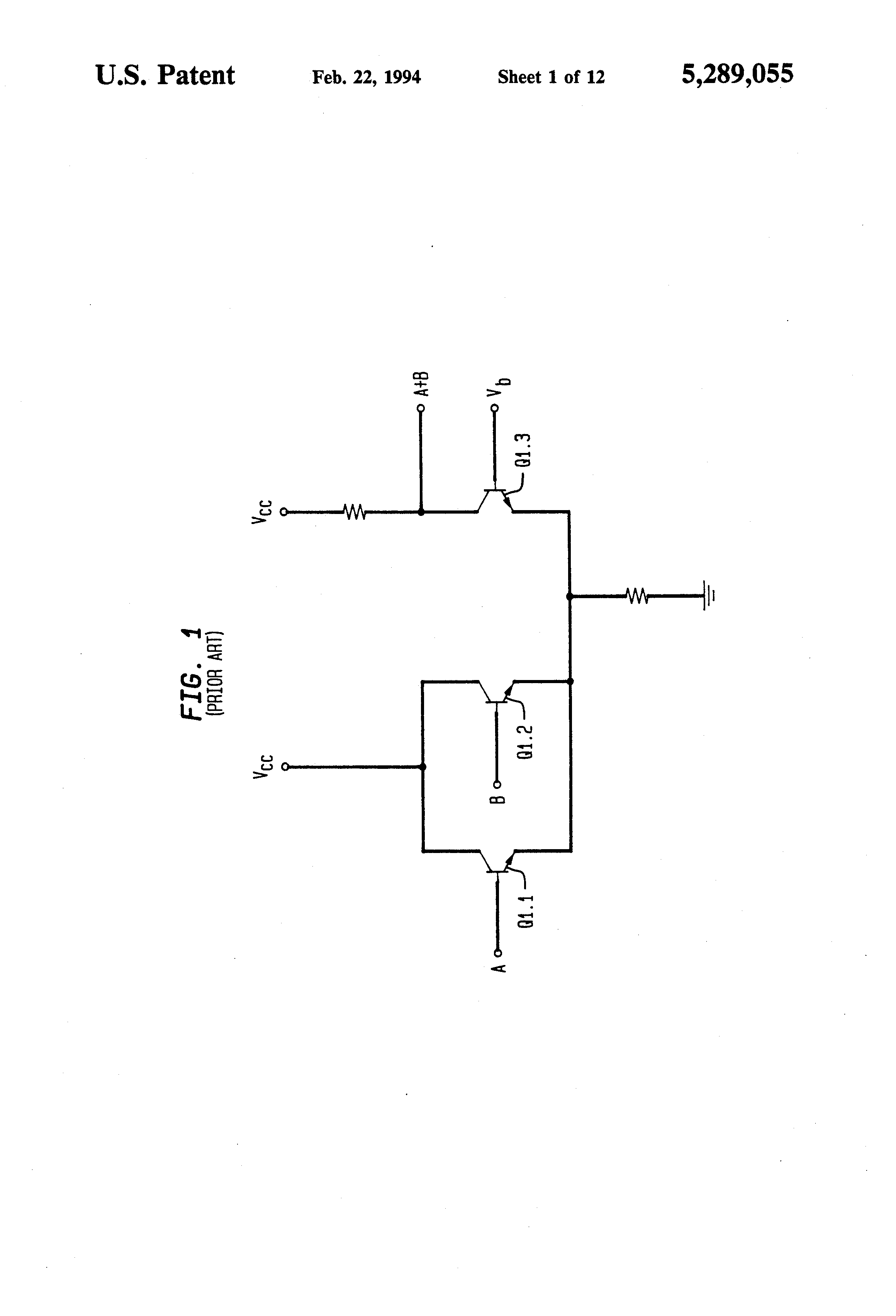 Patent Us5289055 Digital Ecl Bipolar Logic Gates Suitable For Low Diagram Of Xnor Gate Drawing