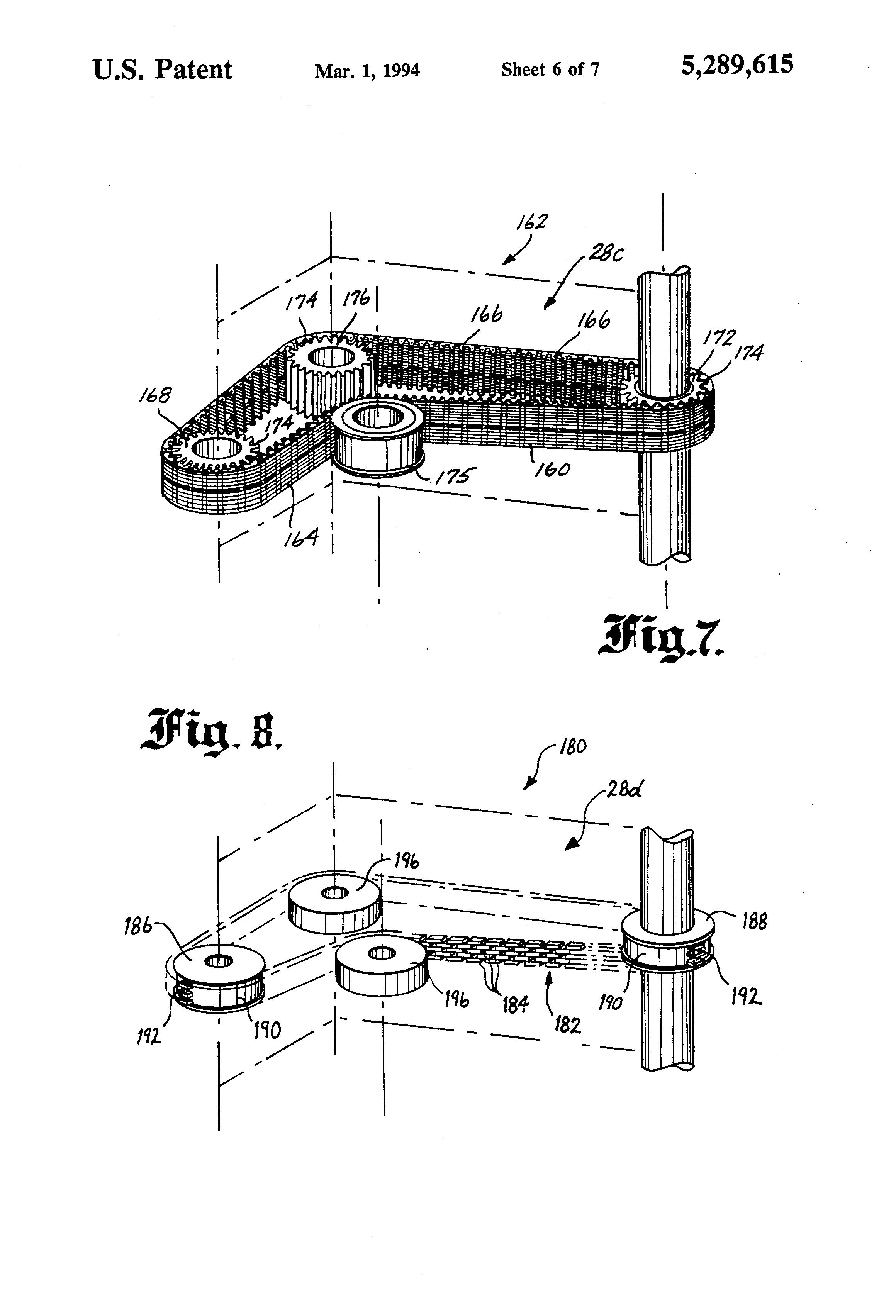 Patent Us5289615 Aircraft Door Hinge Mechanism Google