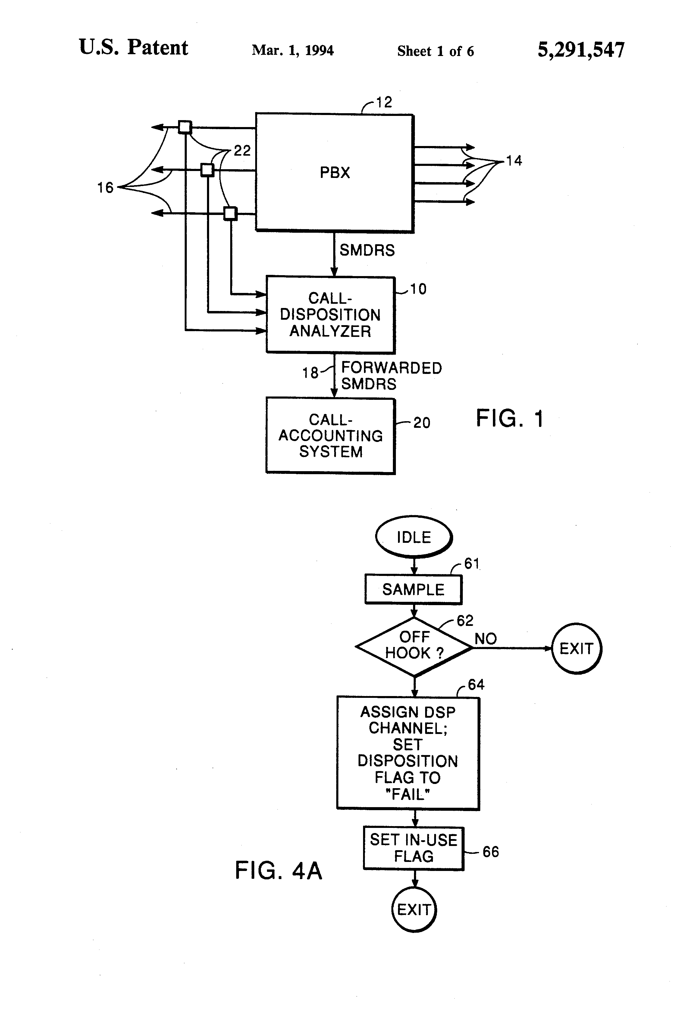 patent us5291547 - call-disposition analyzer