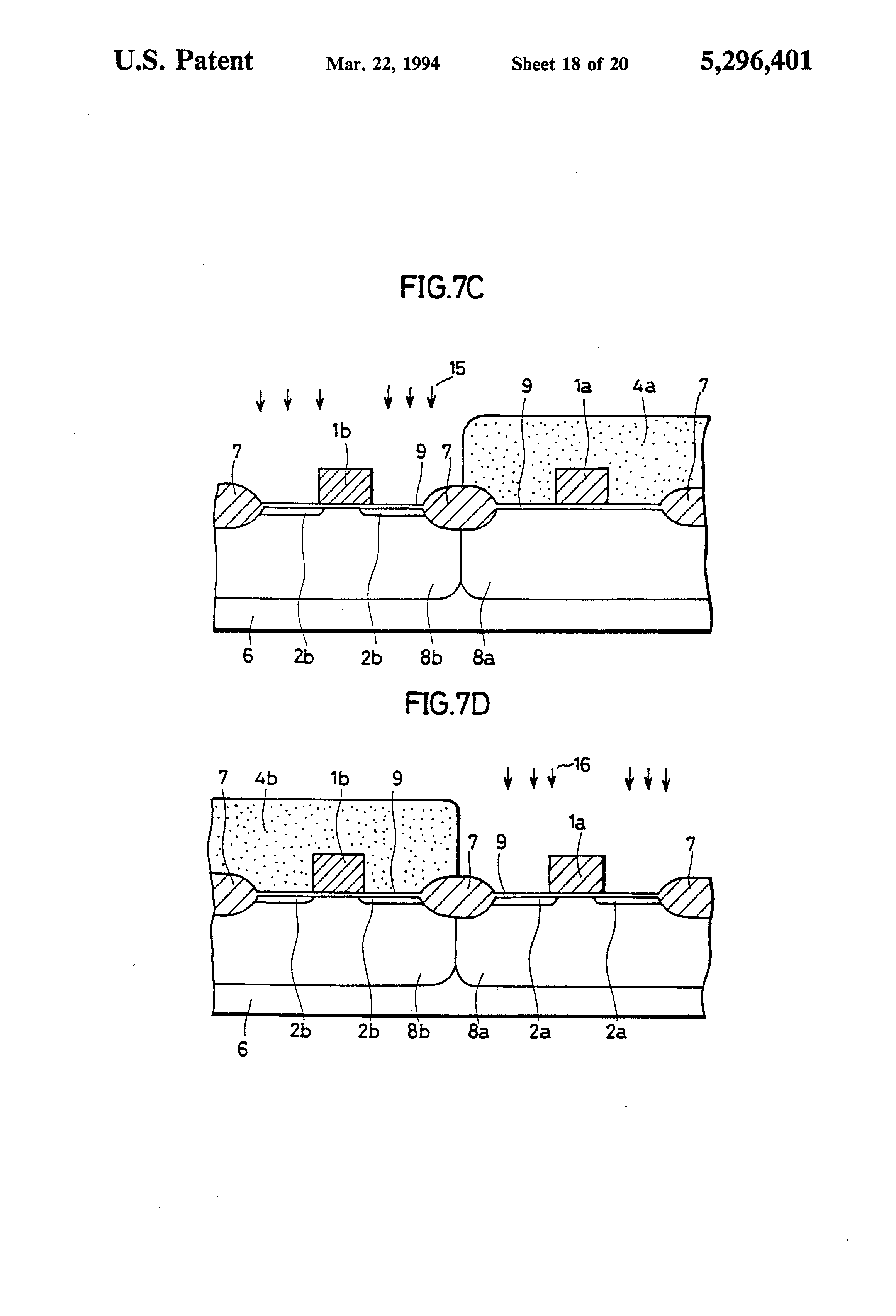 patent us5296401 mis device having p channel mos device and n patent drawing