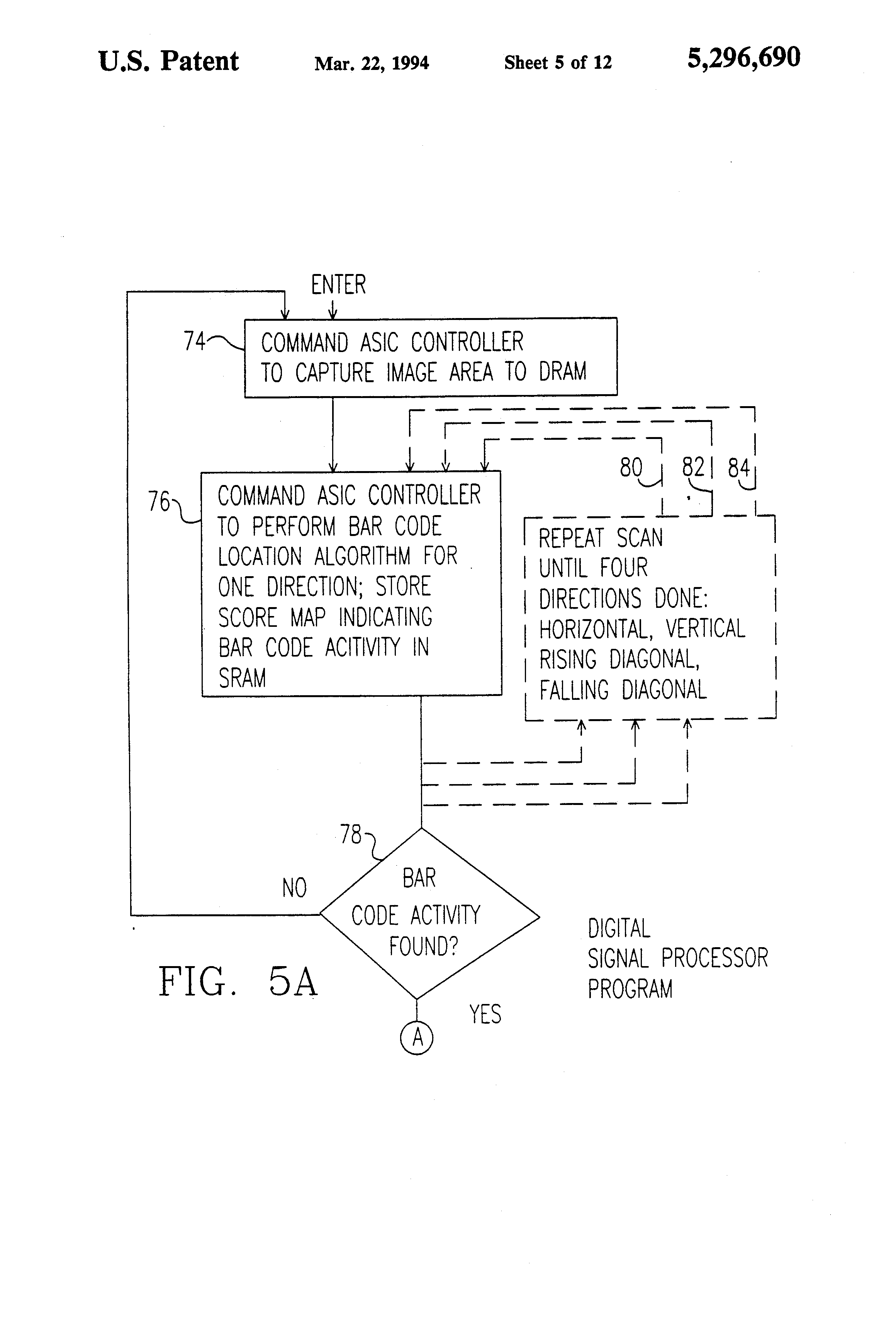 Patent US5296690 System for locating and determining the
