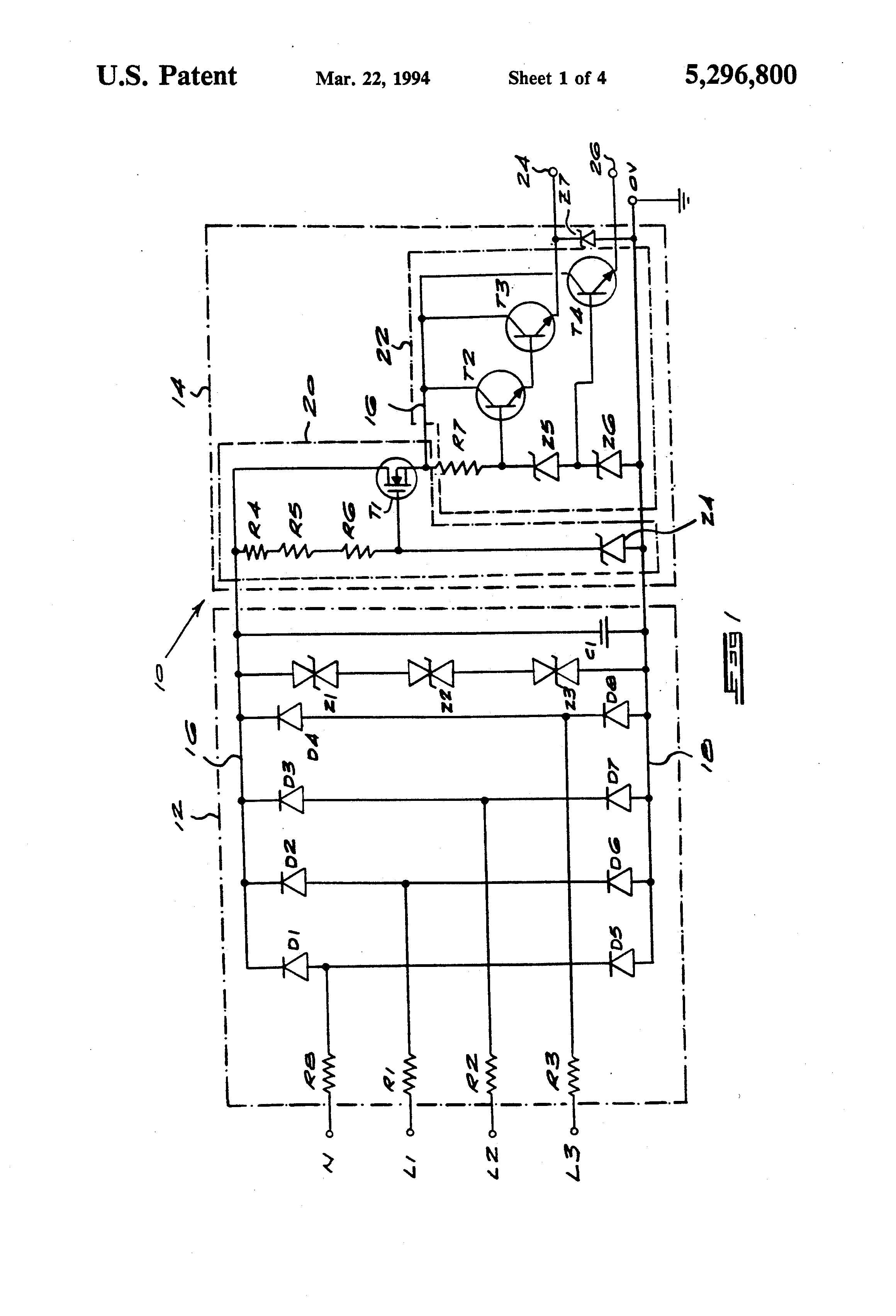 Patent Us5296800 Regulated Power Supply Circuit Google Patents Mosfet Output Switching Regulator Circuitin Integrated Circuits Drawing