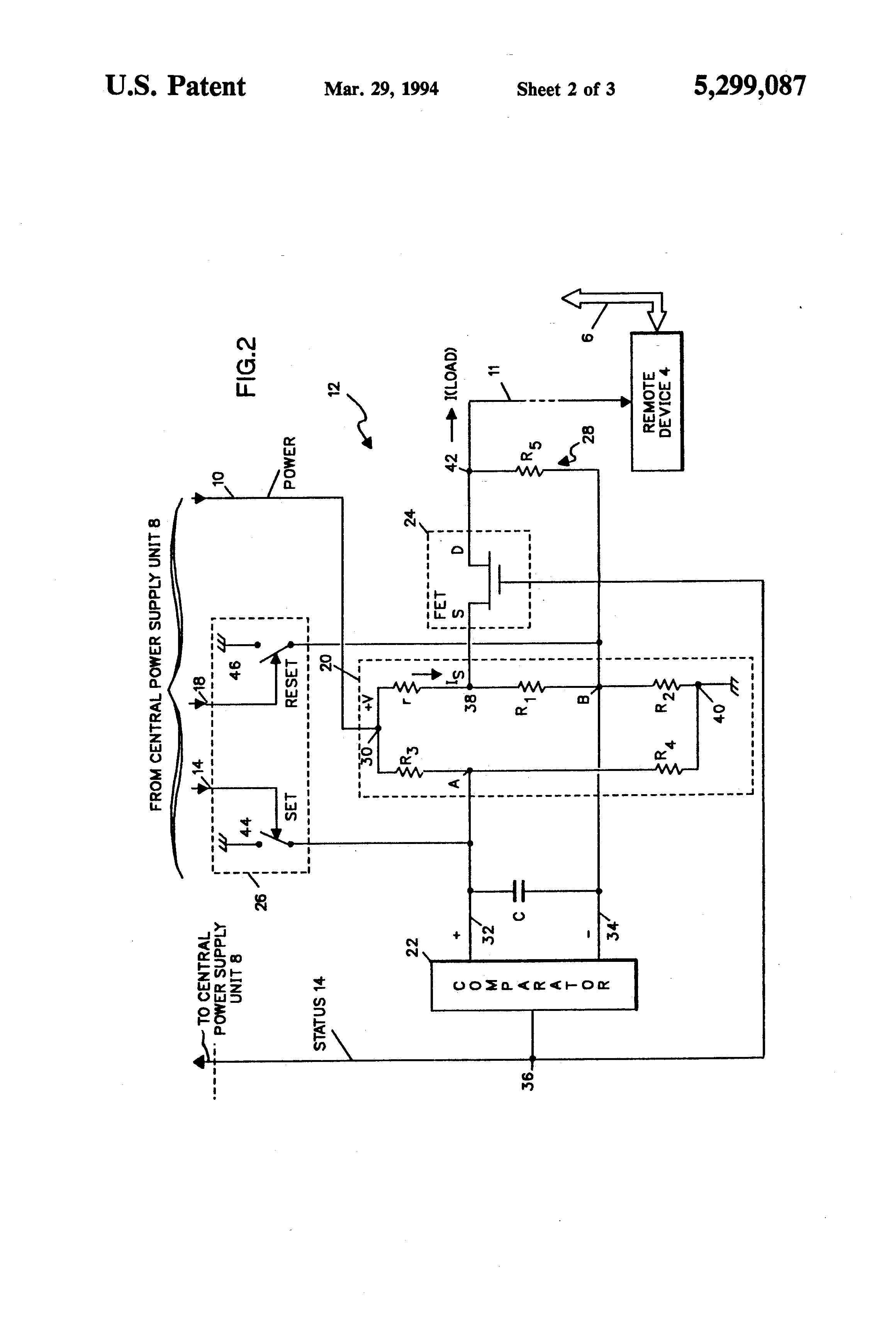 patent us5299087 - overload protection circuit