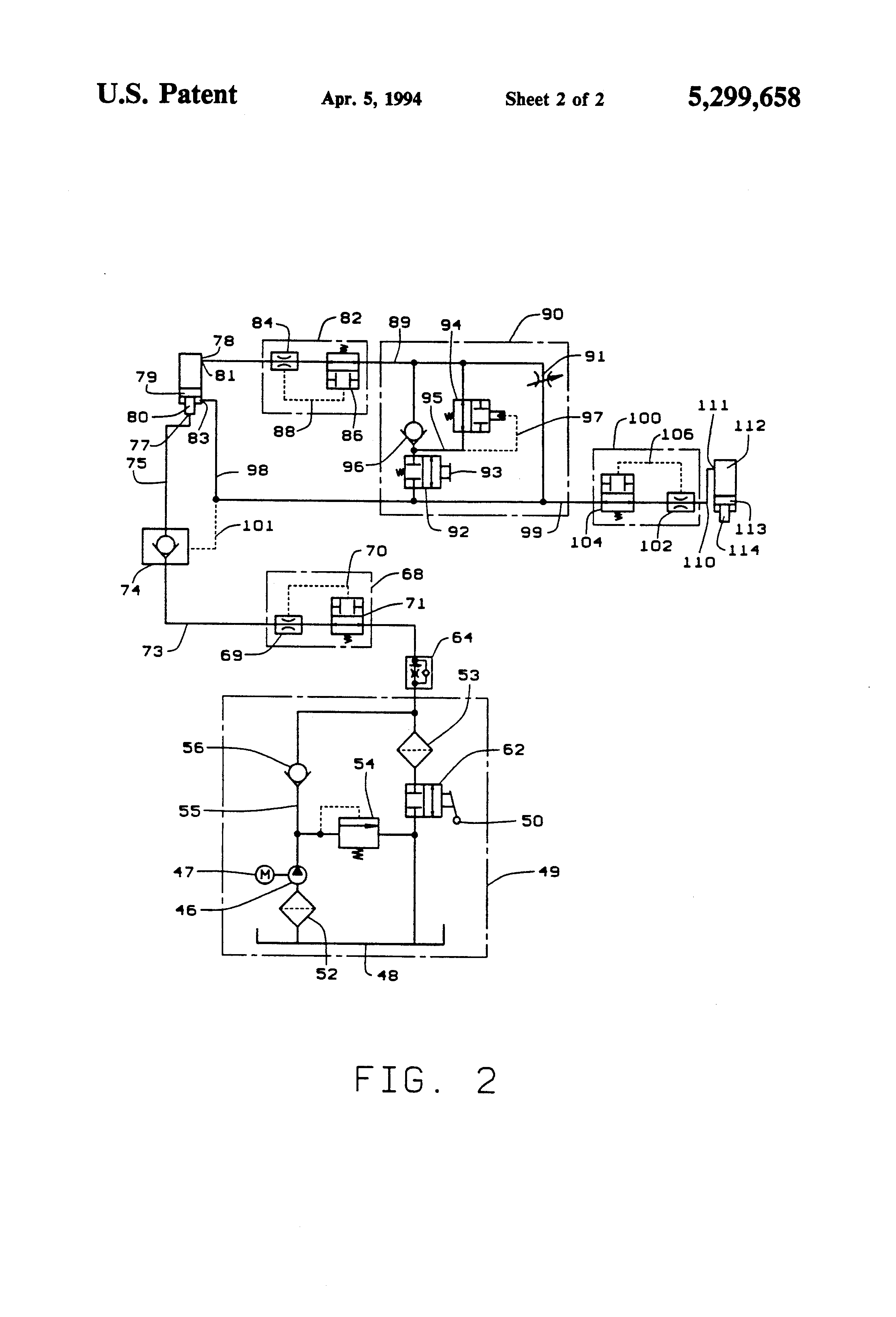 patent us5299658 - automatic hydraulic lift circuit