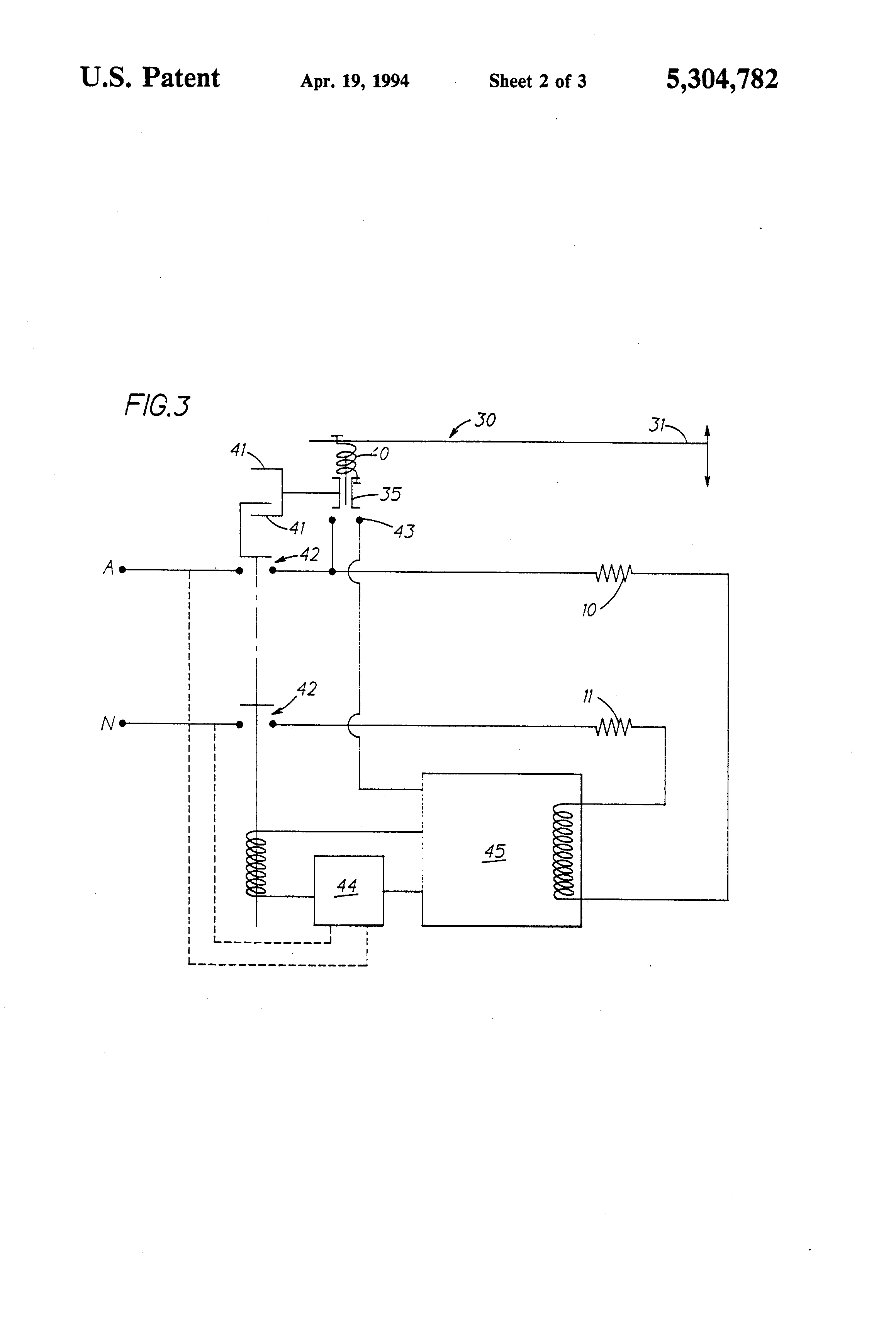 US5304782 2 patent us5304782 protection circuit for electric toaster dualit toaster timer wiring diagram at bayanpartner.co