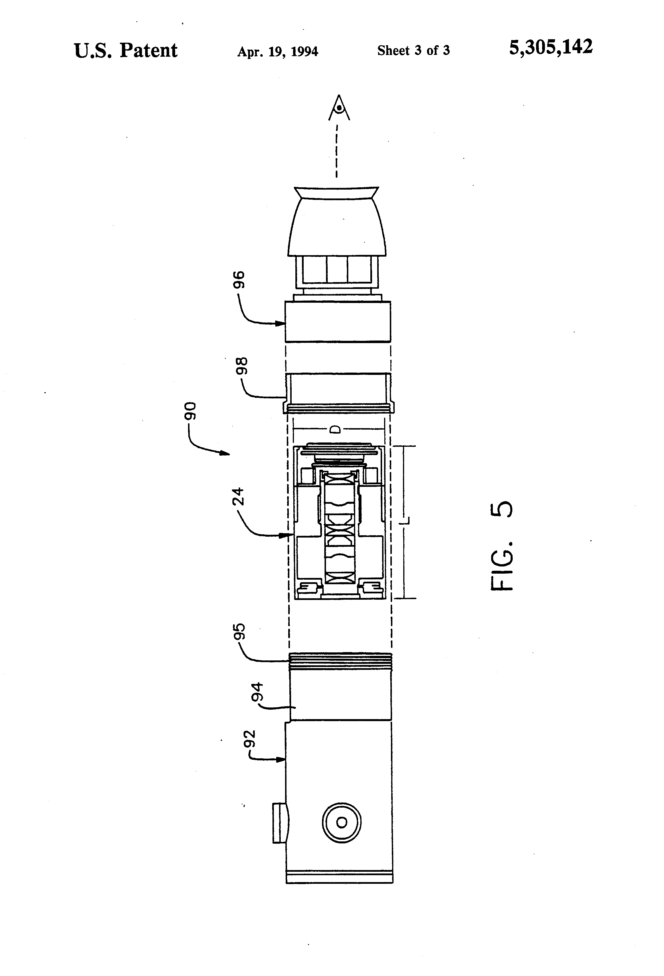 patent us5305142 replacement assembly for an image intensifier