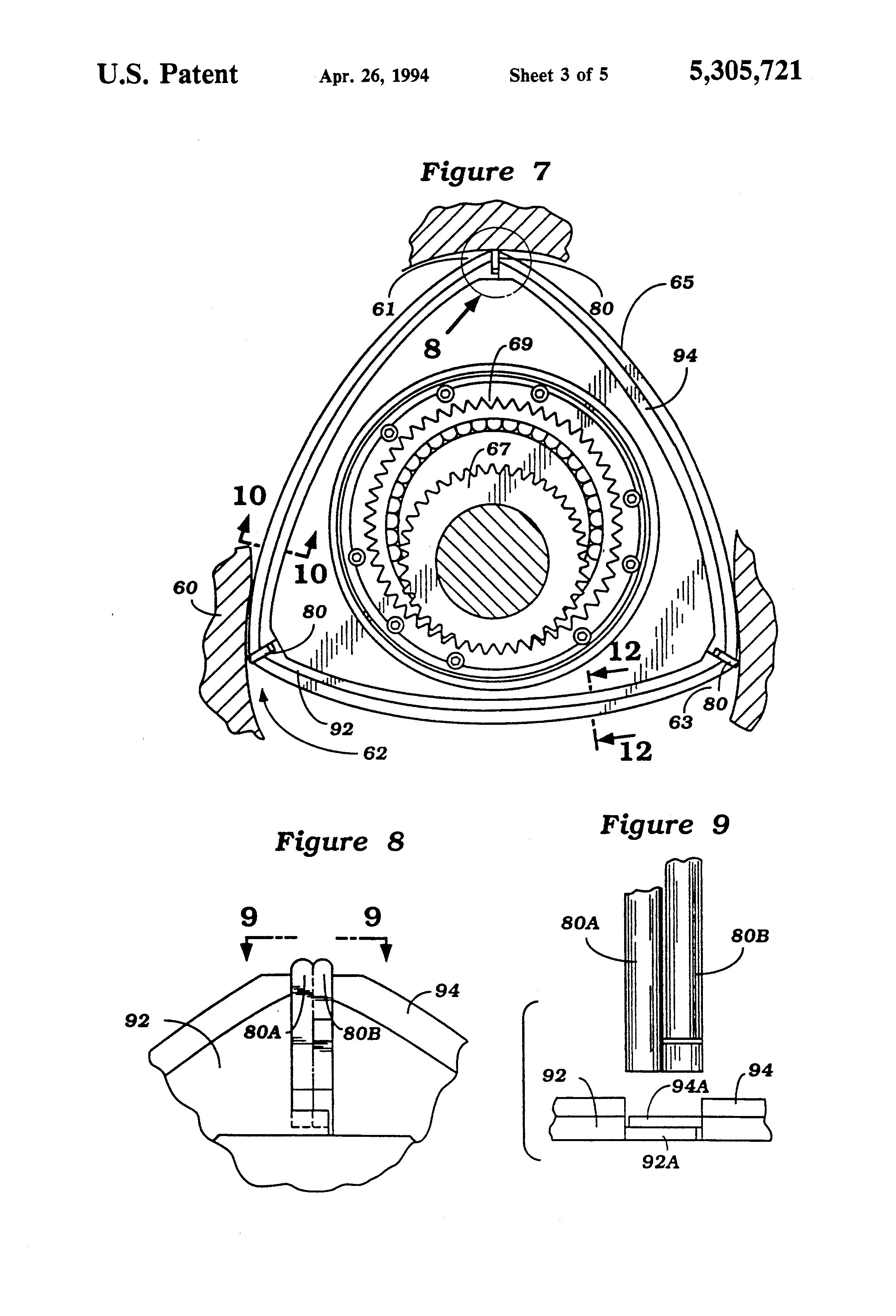 patent us5305721 - rotary wankel type engine