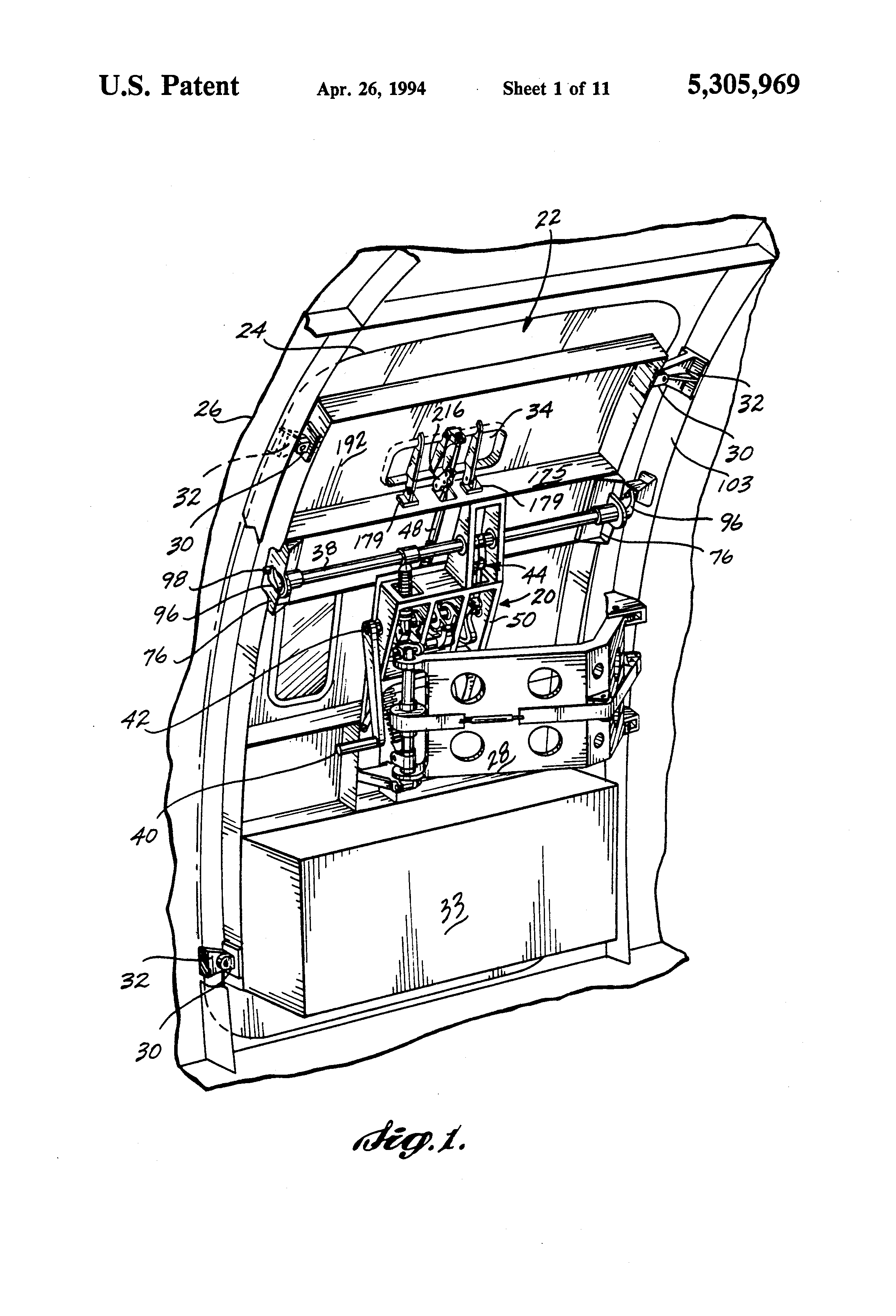 patent us5305969 aircraft door latch lock mechanism google patents. Black Bedroom Furniture Sets. Home Design Ideas
