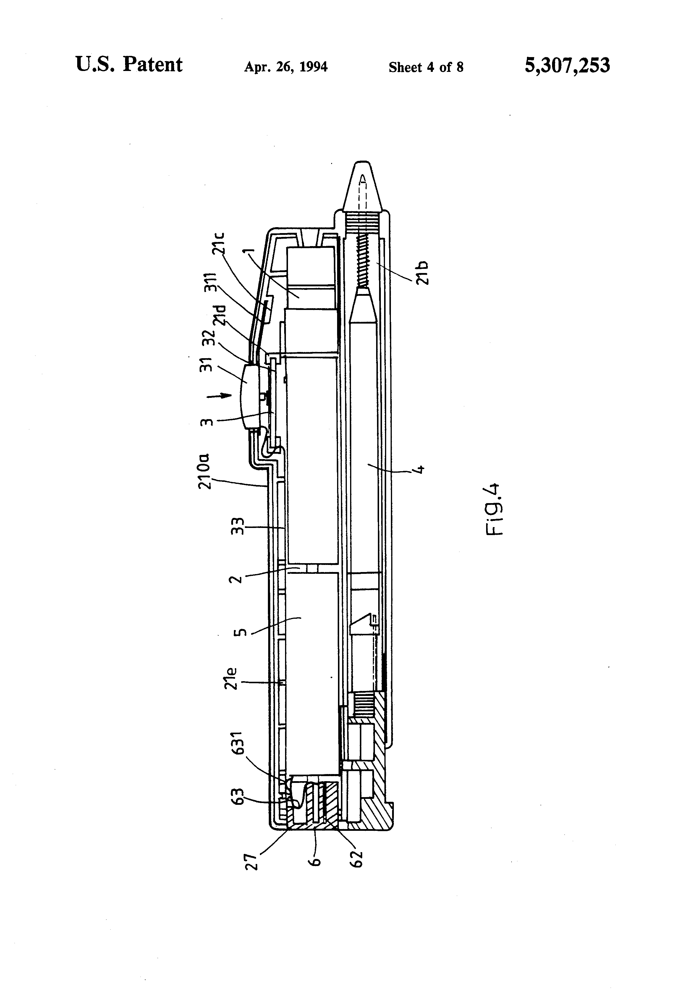 patent us5307253 - structure of laser pointer