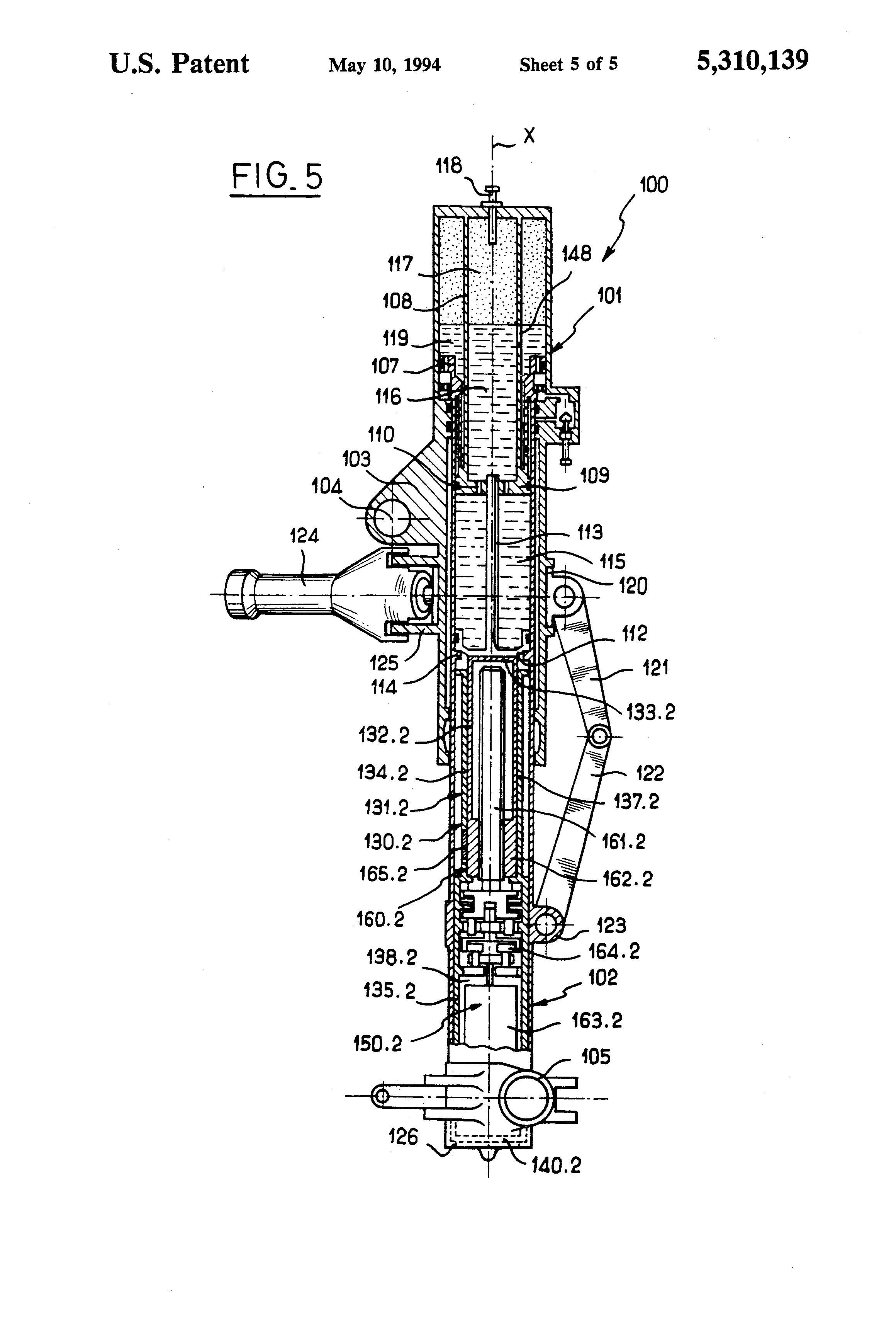 Shock Diagram Undercarriage 27 Wiring Images Jeep Cj Suspension Parts Years 197686 Including Pivot Eye Bushings Us5310139 5 Patent Absorber For Aircraft Landing Gear Durango 2004 At Highcare