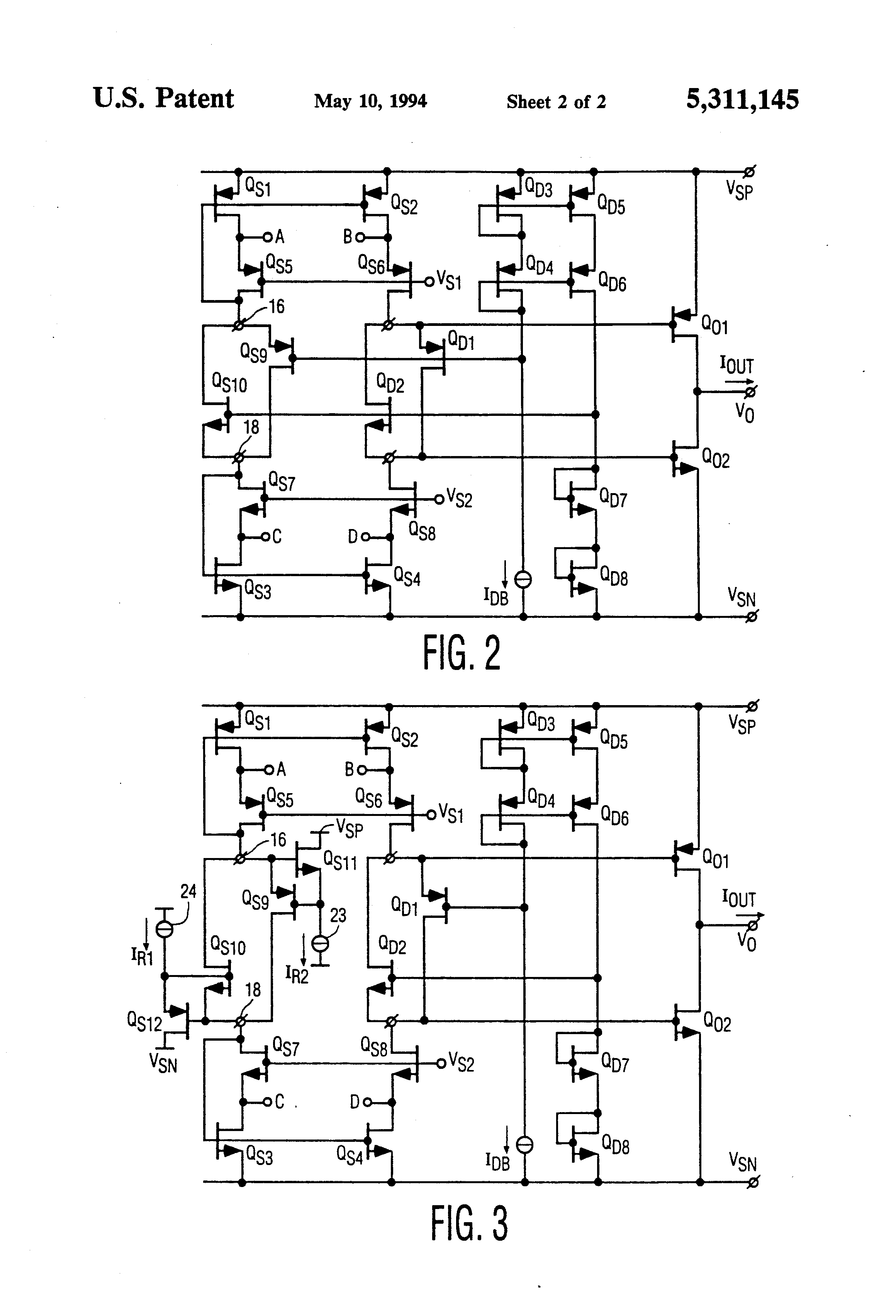 patent us5311145 combination driver summing circuit for Single Ended Amplifier Differential Input high precision rail-to-rail output operational amplifier