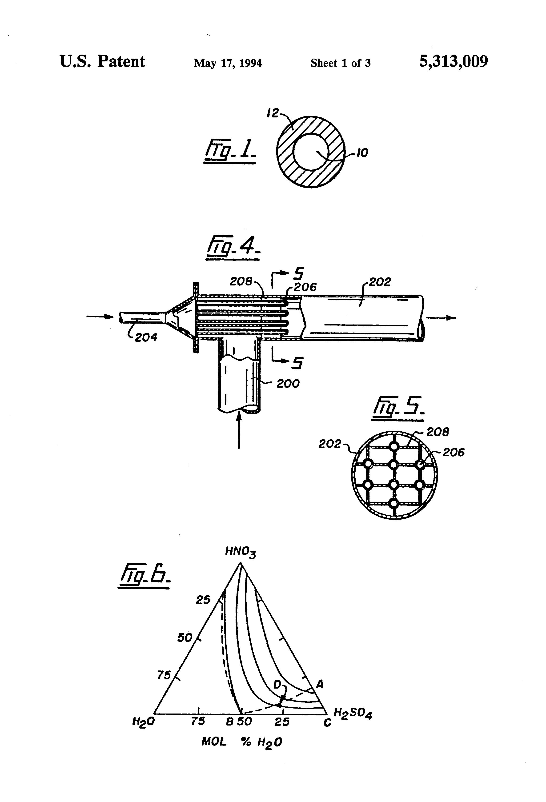 patent us5313009 - nitration process