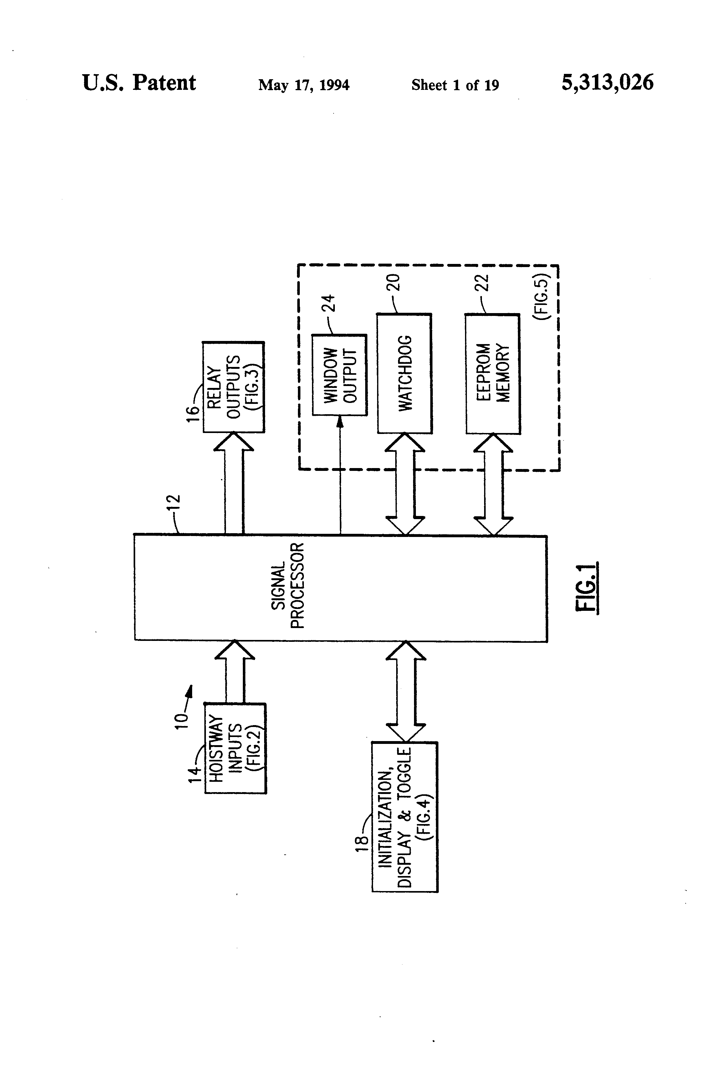 Patent Us5313026 Electronic Stepper To Determine Elevator Car Figure 3 The Button Debounce And Schmitt Trigger Circuit Drawing