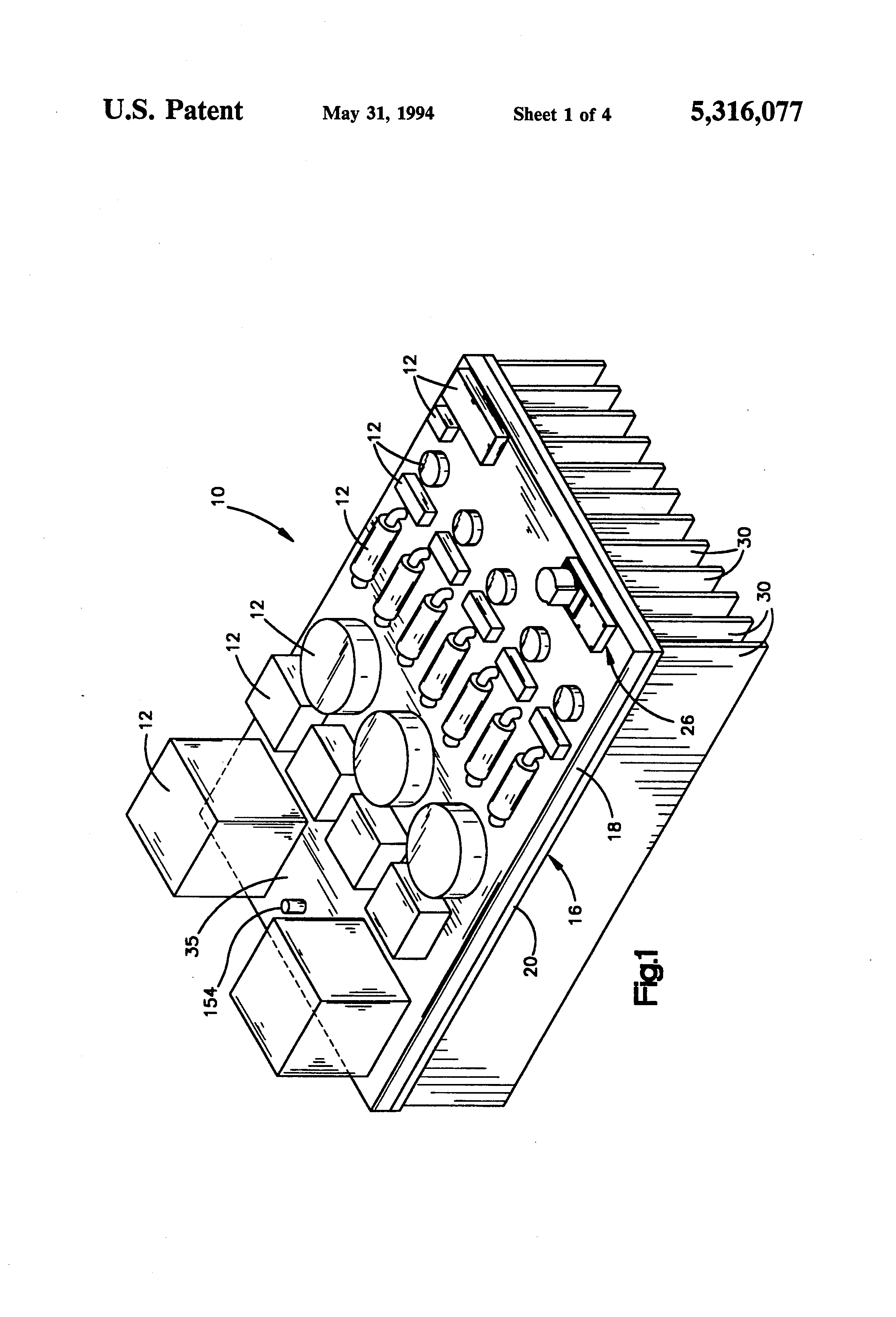 Patent Us5316077 Heat Sink For Electrical Circuit Components This Is Similar To That Of Fig 5 31 Except The Drawing