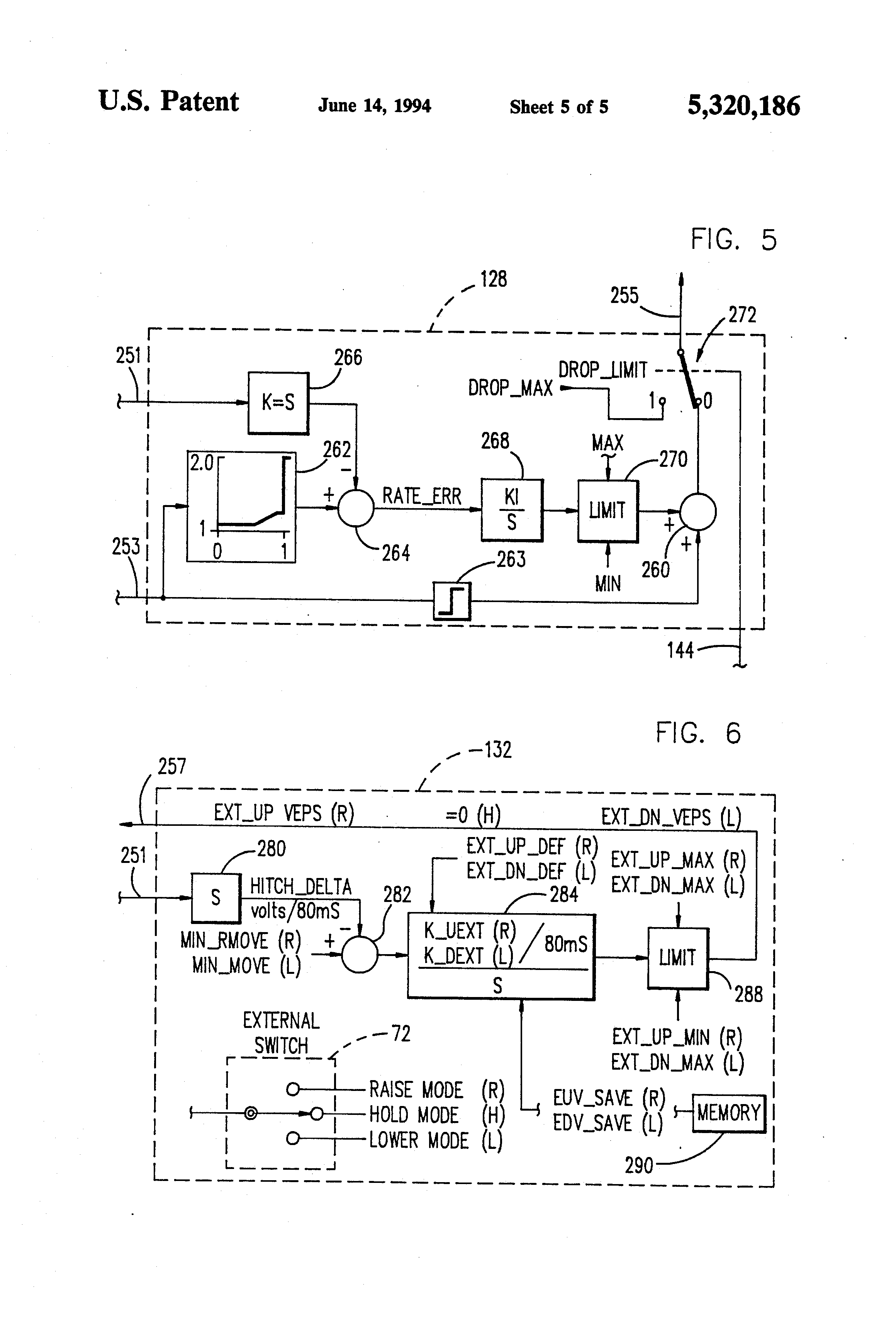 US5320186 5 patent us5320186 draft control system with closed loop drop sauer danfoss joystick wiring diagram at n-0.co