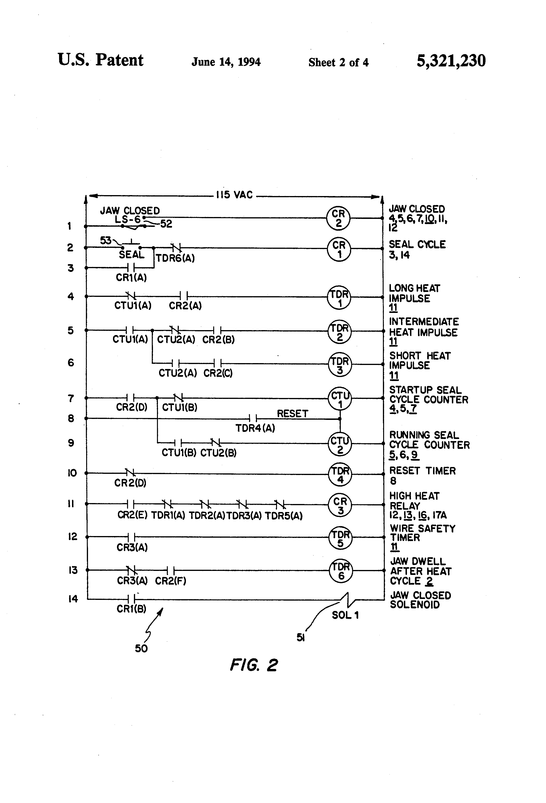 US5321230 2 patent us5321230 seal wire heat control system google patents heat seal wiring diagram at bakdesigns.co