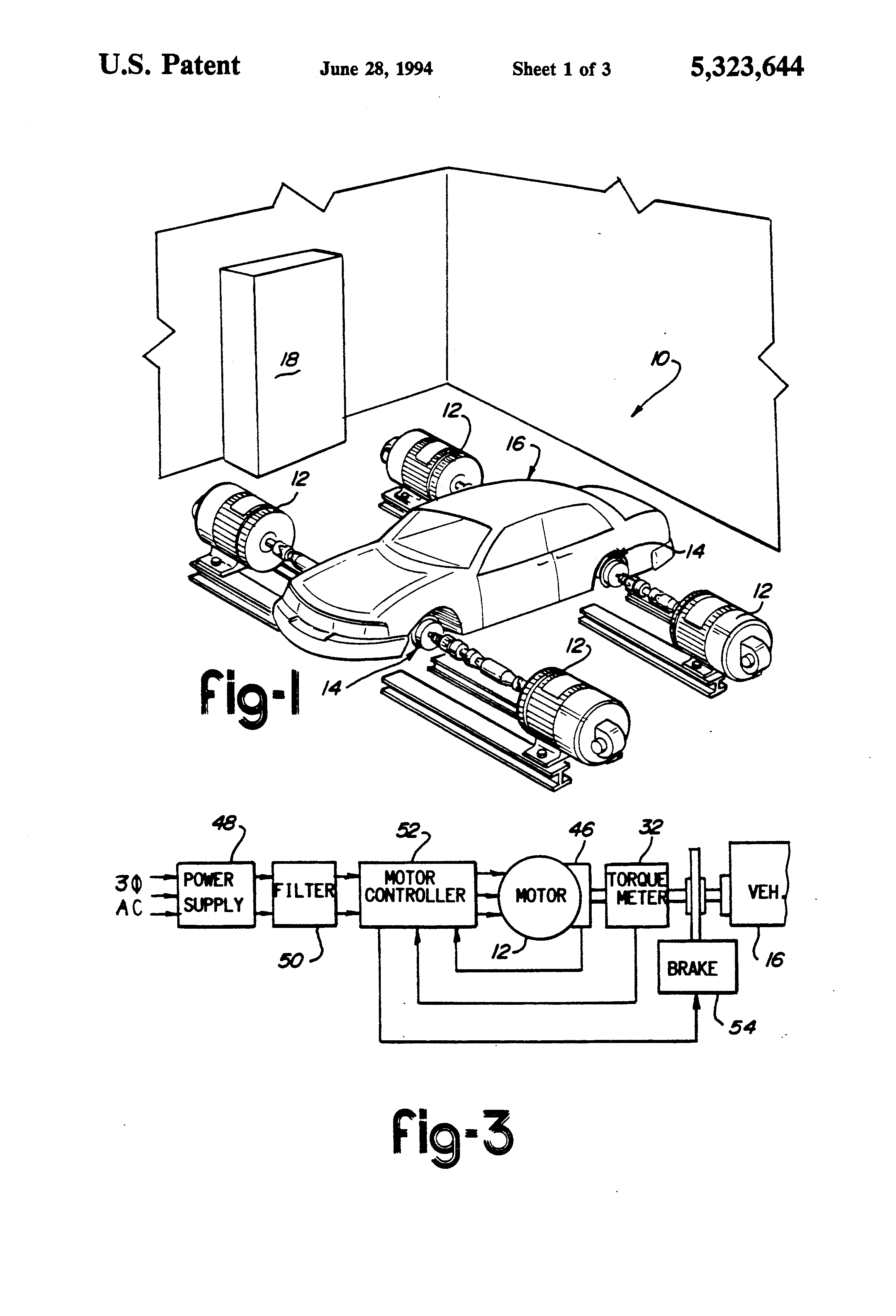 Patent Us5323644 Traction Control Road Simulator Google Patents