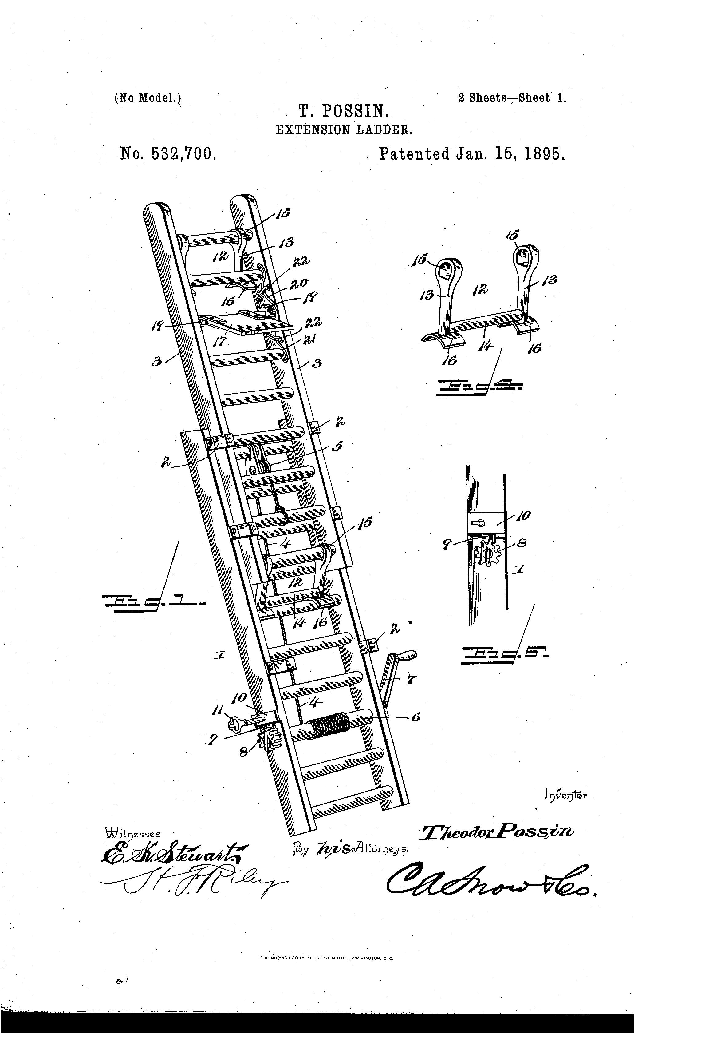 Extension Ladder Parts : Patent us extension ladder google patents