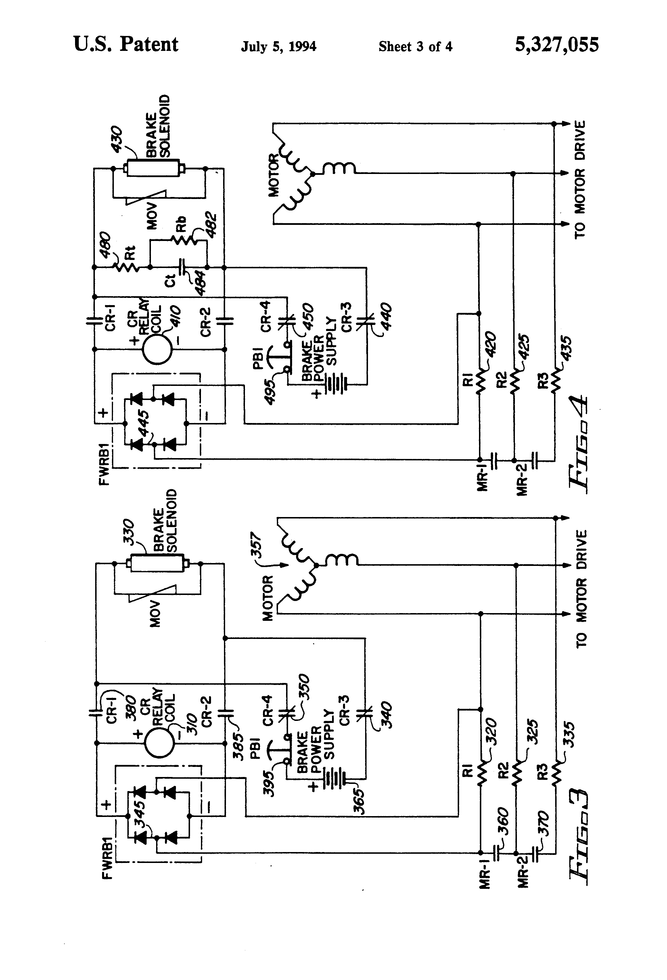US5327055 3 patent us5327055 mechanical brake hold circuit for an electric sew encoder wiring diagram at gsmx.co