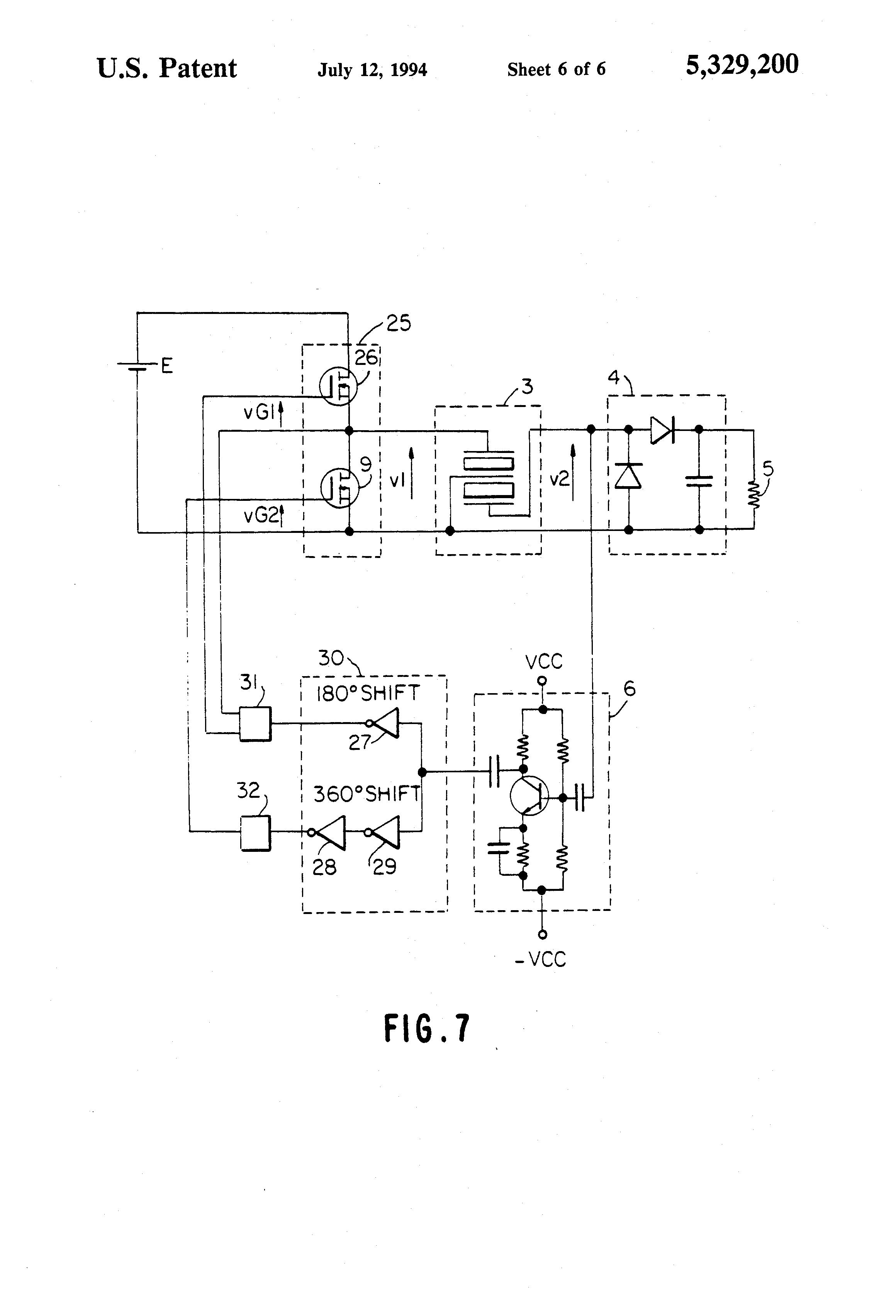 Patent Us5329200 Piezoelectric Transformer Converter For Power Use Highvoltage Amplifier Circuit Diagram Ceramic Drawing