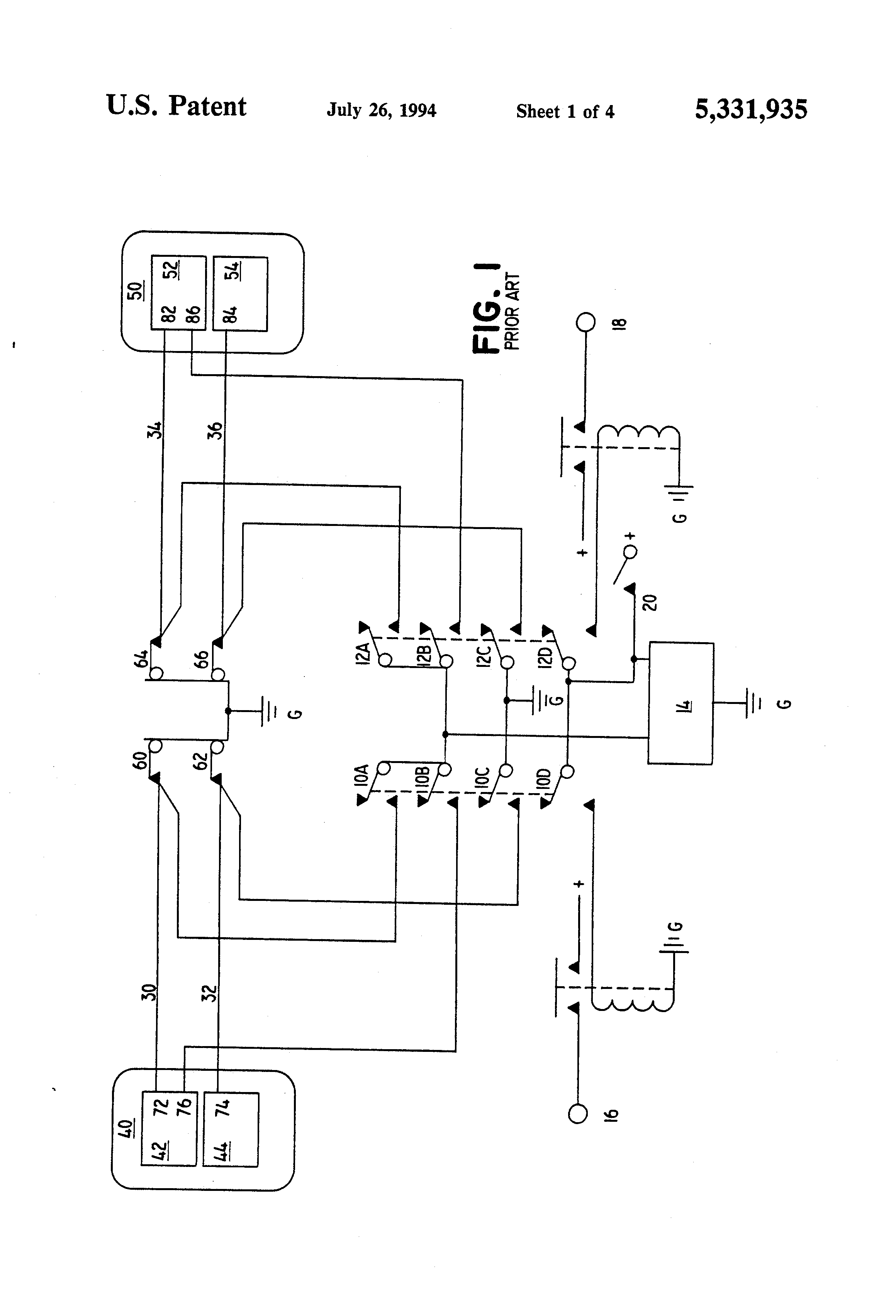 US5331935 1 patent us5331935 auxiliary ignition system and method for aircraft ignition switch wiring diagram at bayanpartner.co