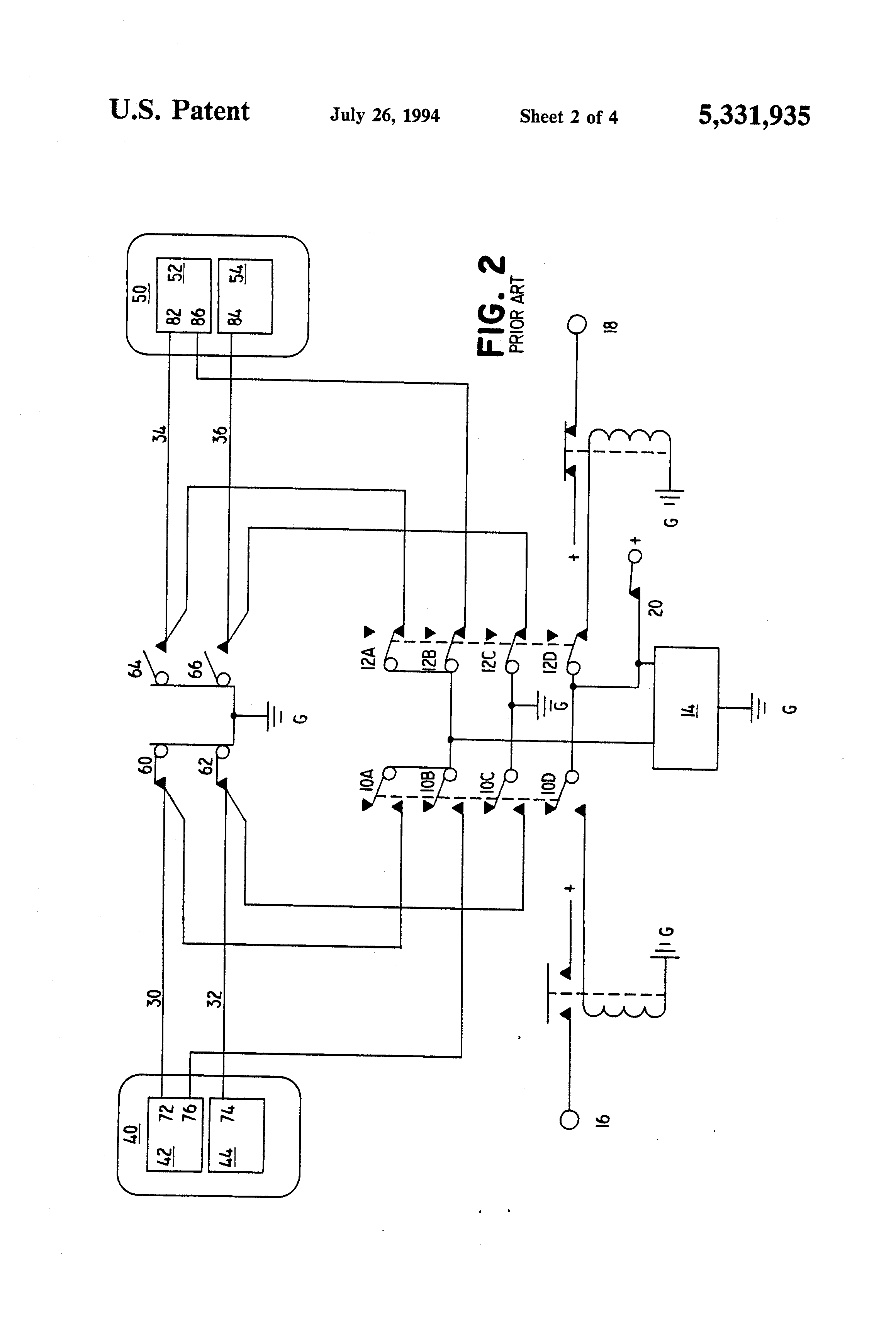 US5331935 2 patent us5331935 auxiliary ignition system and method for aircraft ignition switch wiring diagram at bayanpartner.co