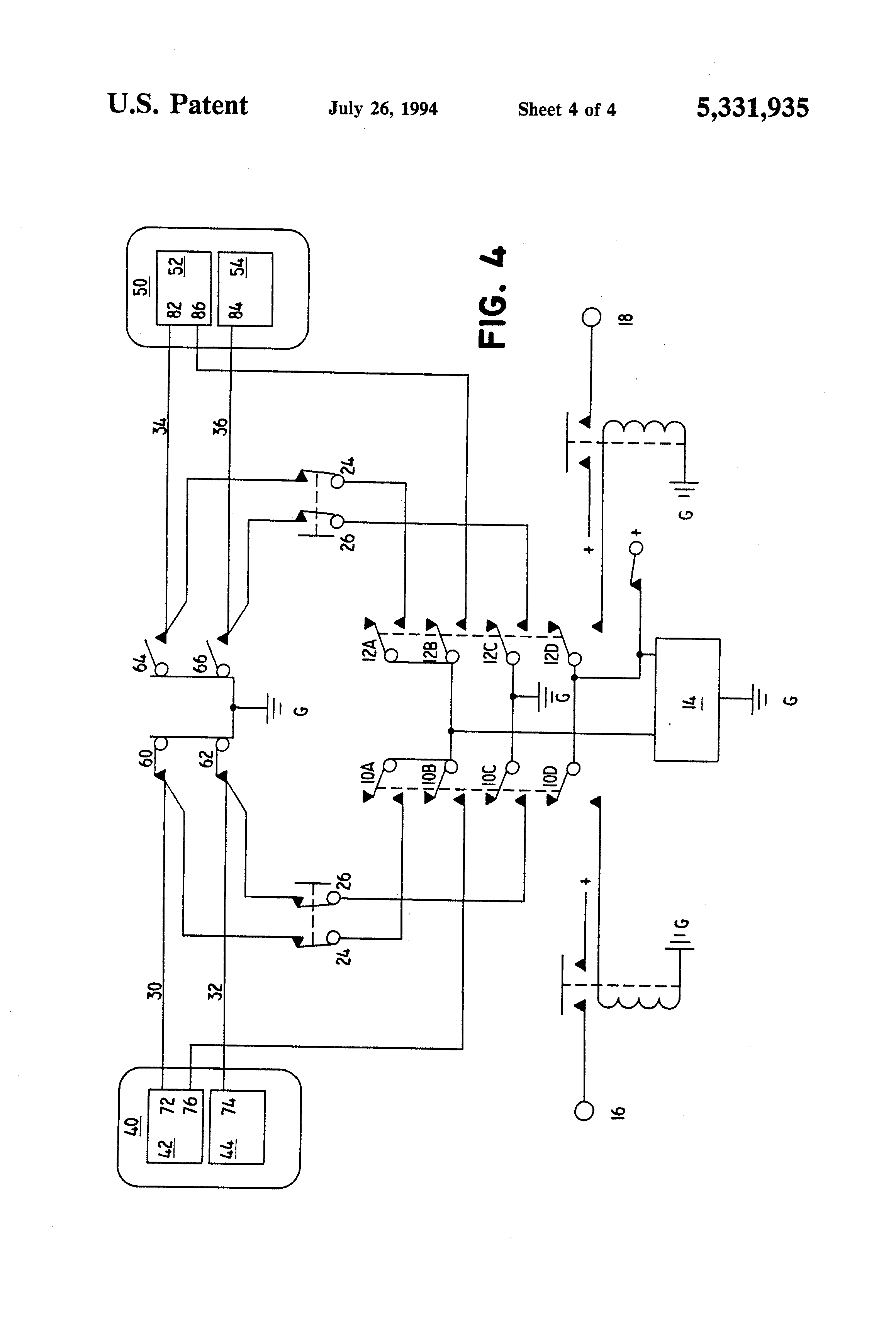 US5331935 4 patent us5331935 auxiliary ignition system and method for aircraft ignition switch wiring diagram at bayanpartner.co