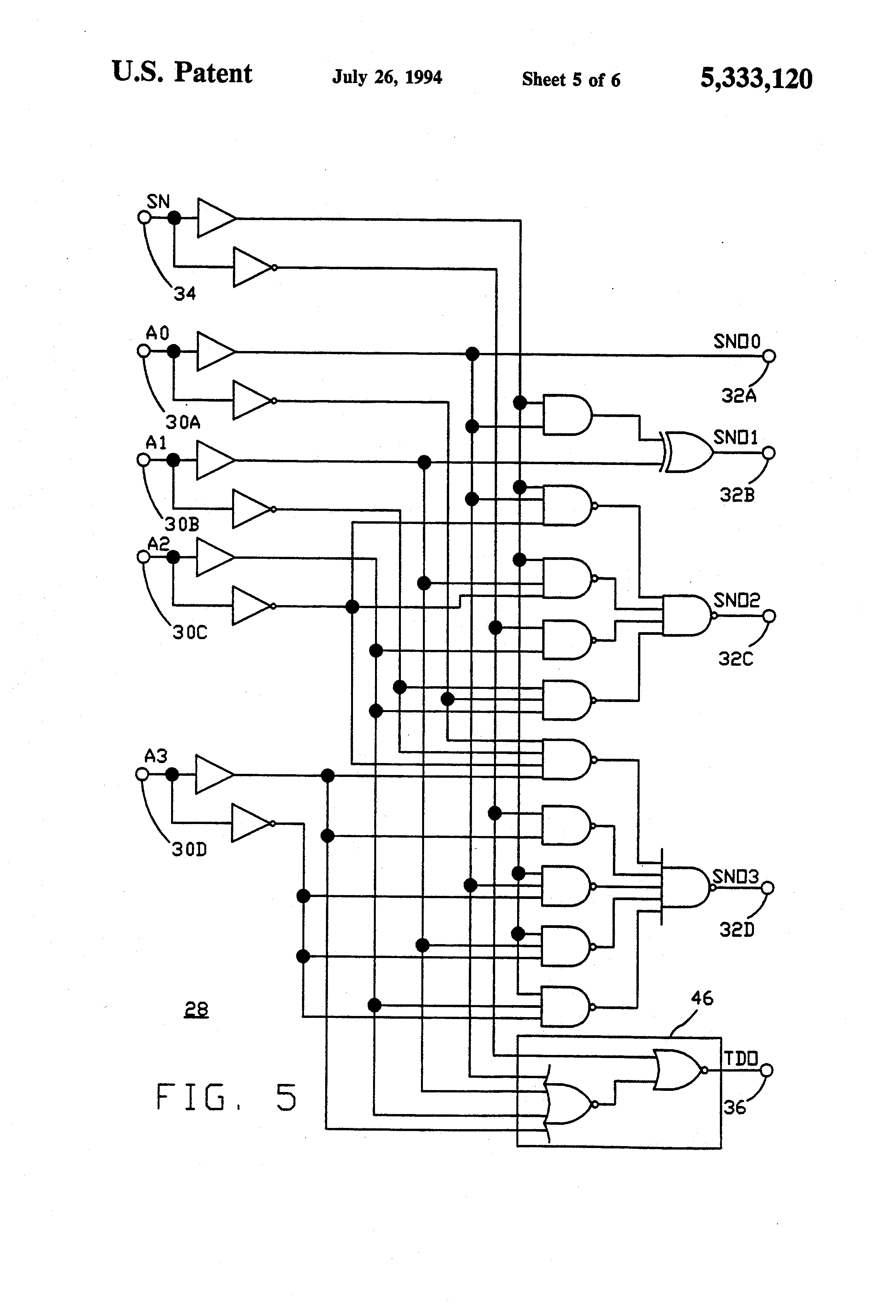 patent us5333120 - binary two u0026 39 s complement arithmetic circuit