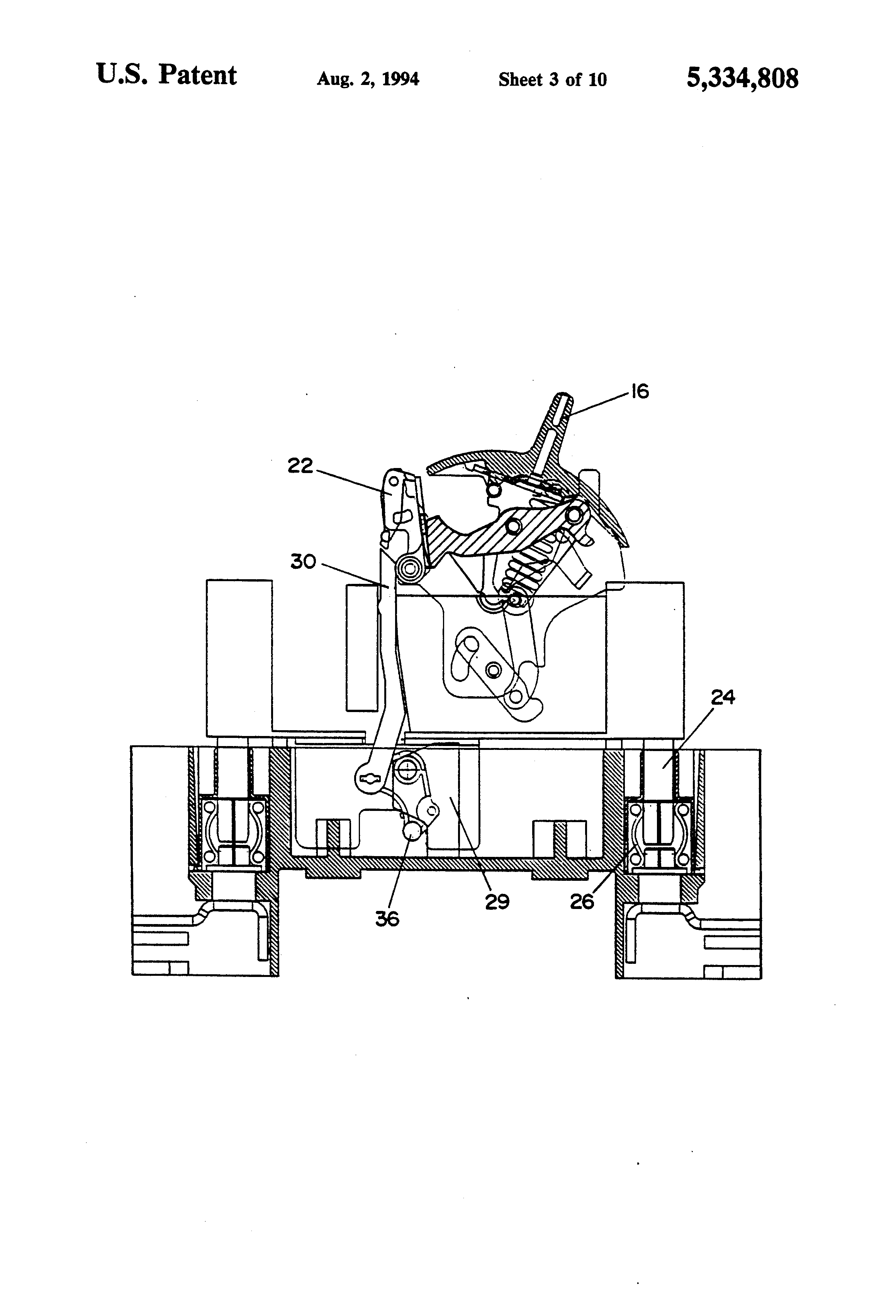patent us5334808 - draw-out molded case circuit breaker