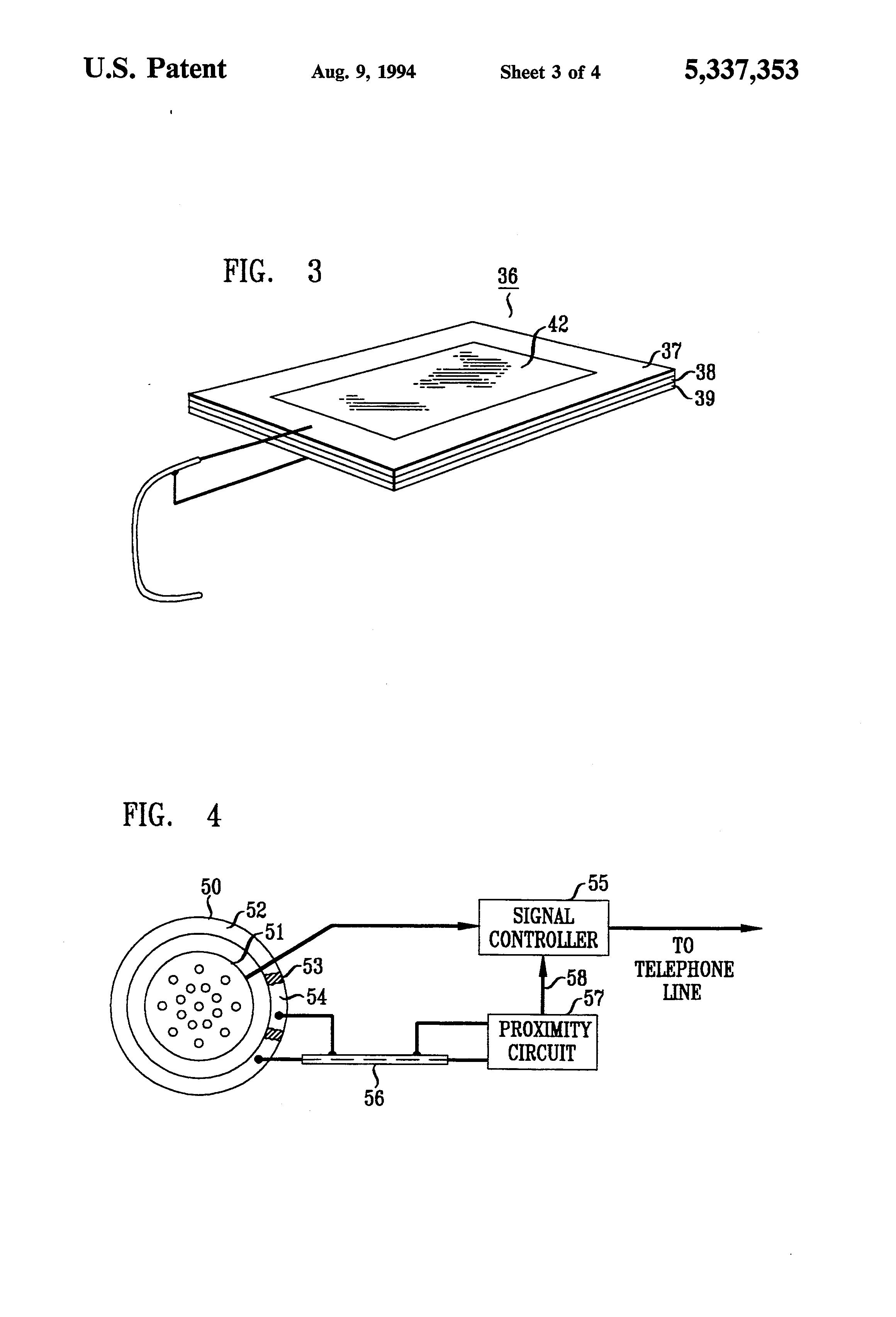 patent us5337353 - capacitive proximity sensors