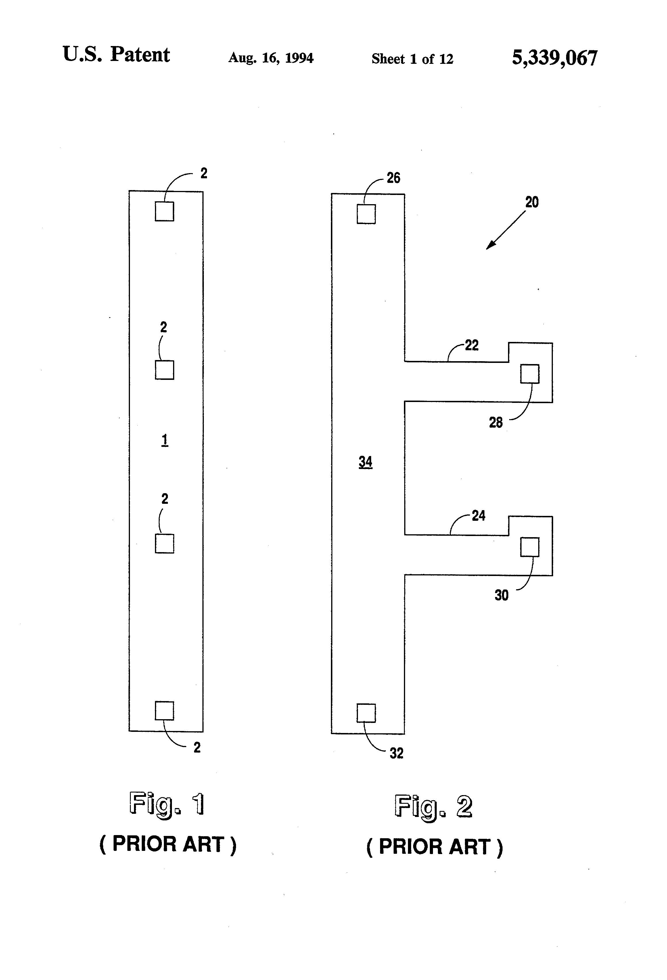 Patent Us5339067 Integrated Voltage Divider And Circuit Employing Drawing