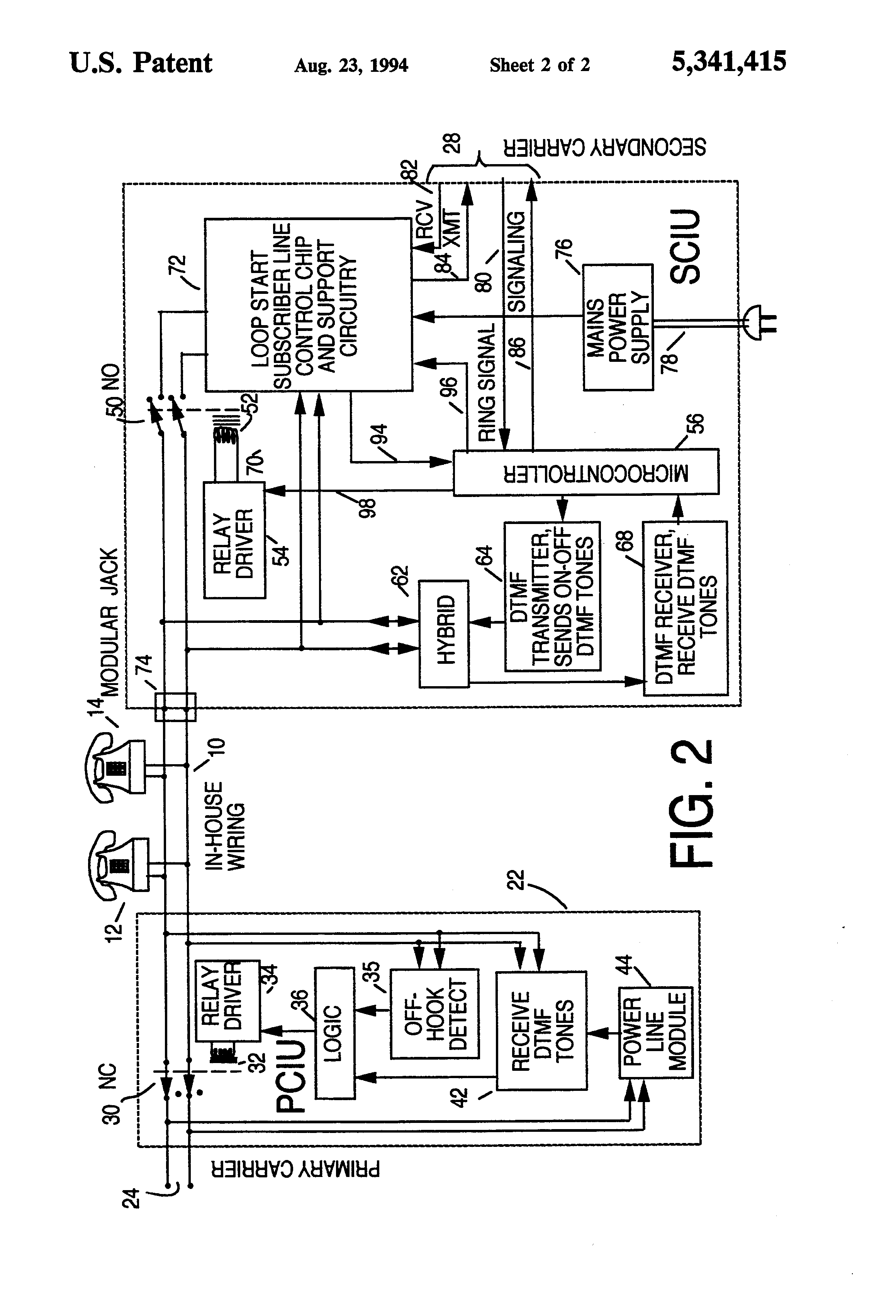 patent us5341415