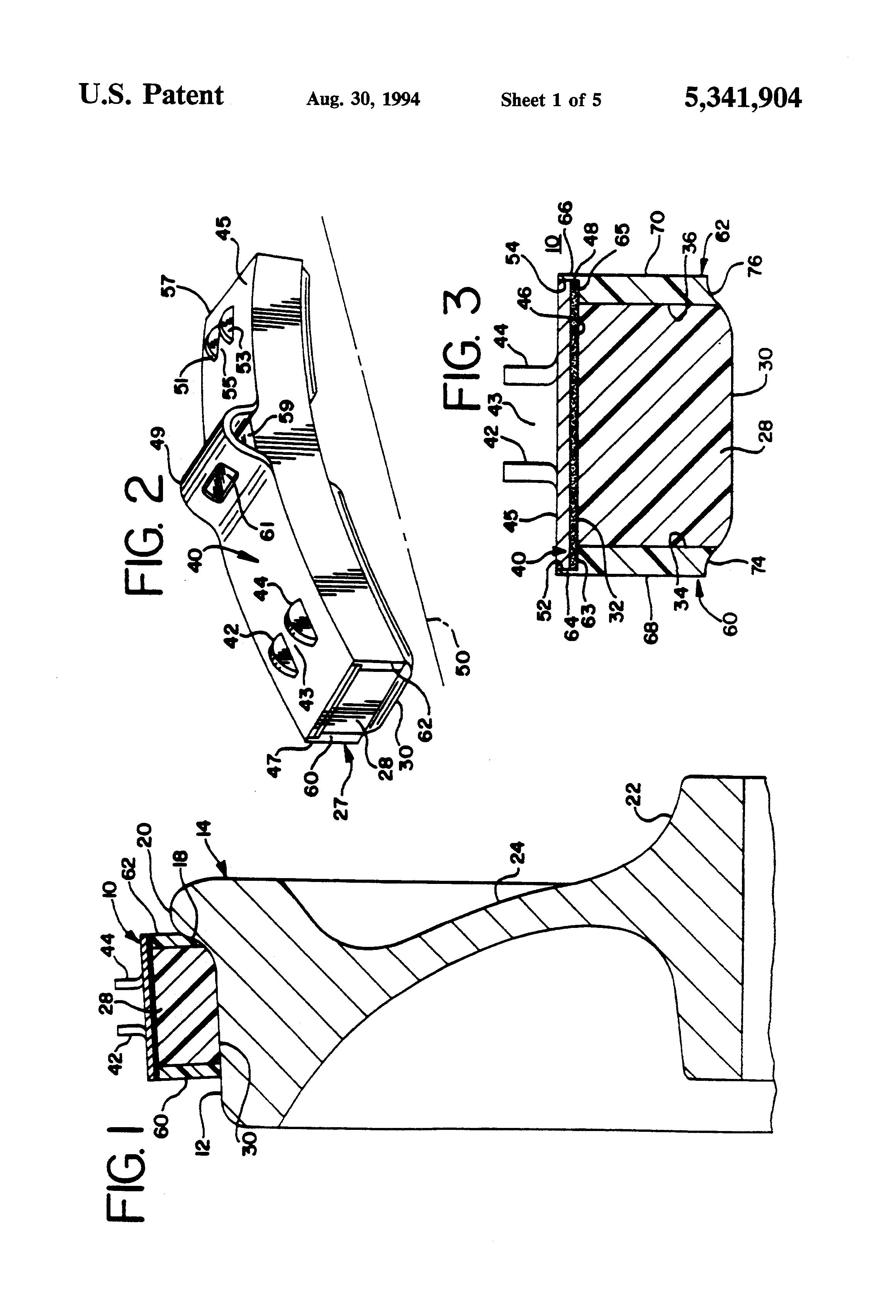 Patent Us5341904 Railroad Brake Shoe Google Patents